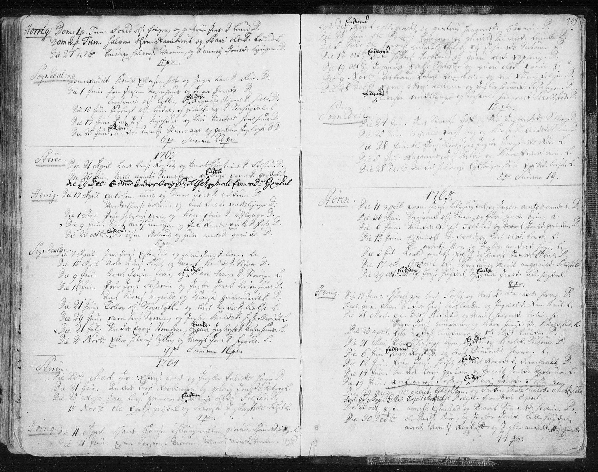 SAT, Ministerialprotokoller, klokkerbøker og fødselsregistre - Sør-Trøndelag, 687/L0991: Ministerialbok nr. 687A02, 1747-1790, s. 269