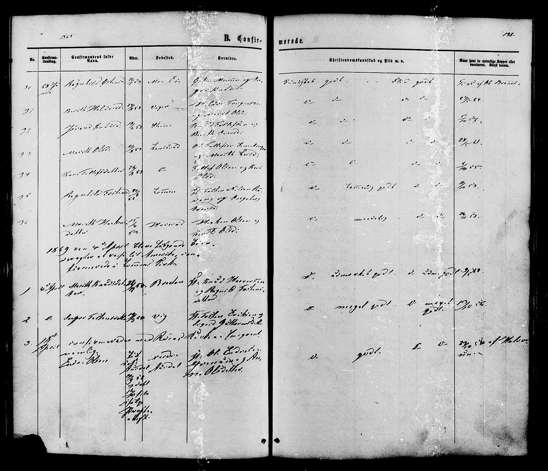 SAH, Vestre Slidre prestekontor, Ministerialbok nr. 3, 1865-1880, s. 138