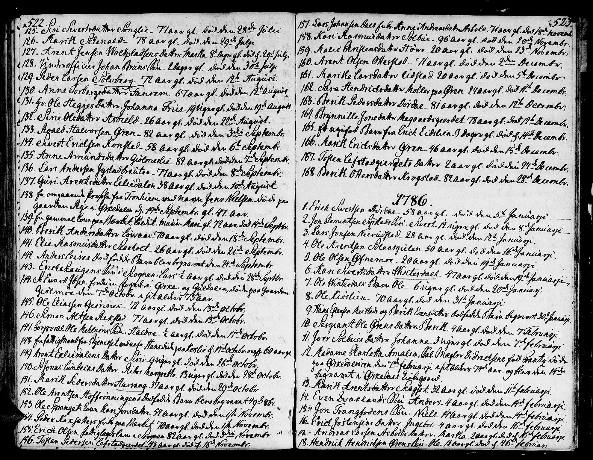 SAT, Ministerialprotokoller, klokkerbøker og fødselsregistre - Sør-Trøndelag, 668/L0802: Ministerialbok nr. 668A02, 1776-1799, s. 522-523