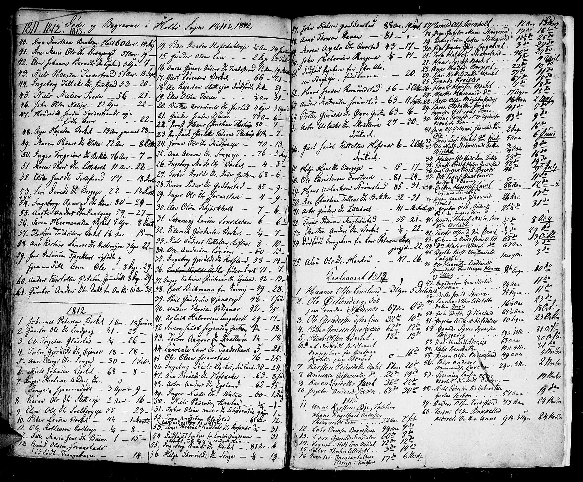 SAK, Holt sokneprestkontor, F/Fa/L0004: Ministerialbok nr. A 4, 1799-1813, s. 88