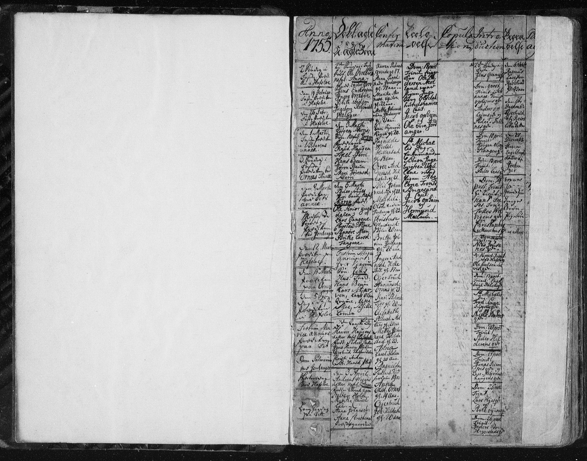SAB, Hafslo Sokneprestembete, Ministerialbok nr. A 2, 1755-1806, s. 3-4