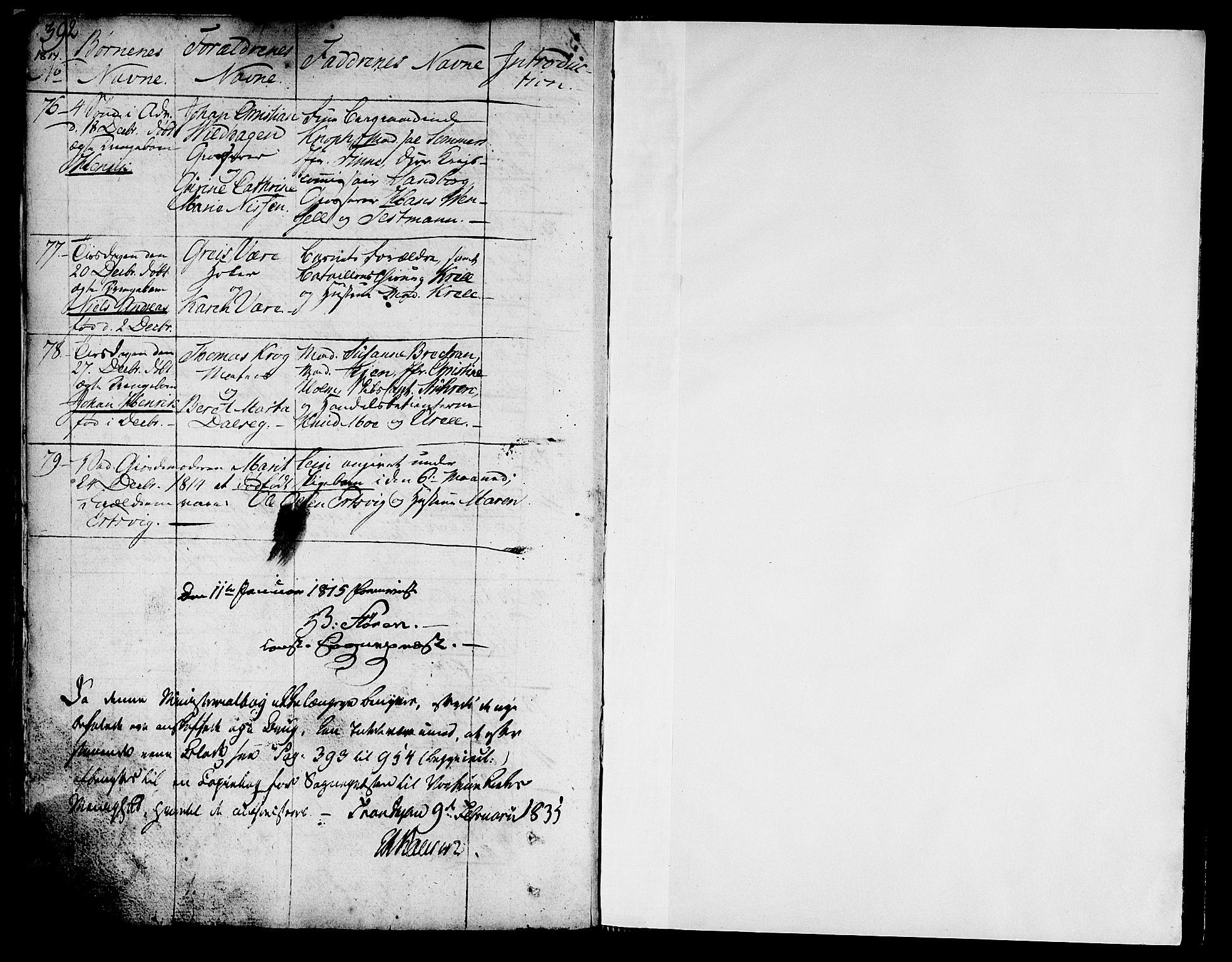 SAT, Ministerialprotokoller, klokkerbøker og fødselsregistre - Sør-Trøndelag, 602/L0104: Ministerialbok nr. 602A02, 1774-1814, s. 392-393