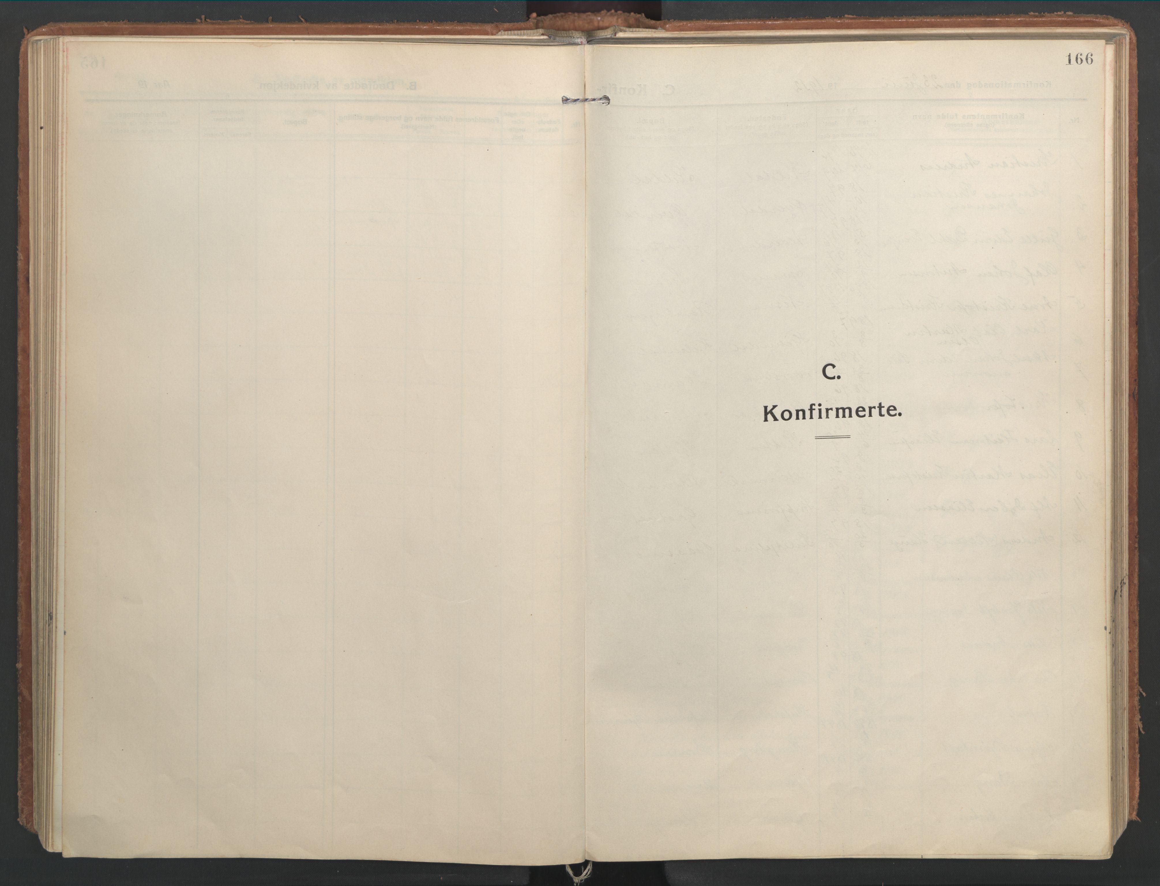 SAT, Ministerialprotokoller, klokkerbøker og fødselsregistre - Nordland, 827/L0404: Ministerialbok nr. 827A16, 1912-1925, s. 166