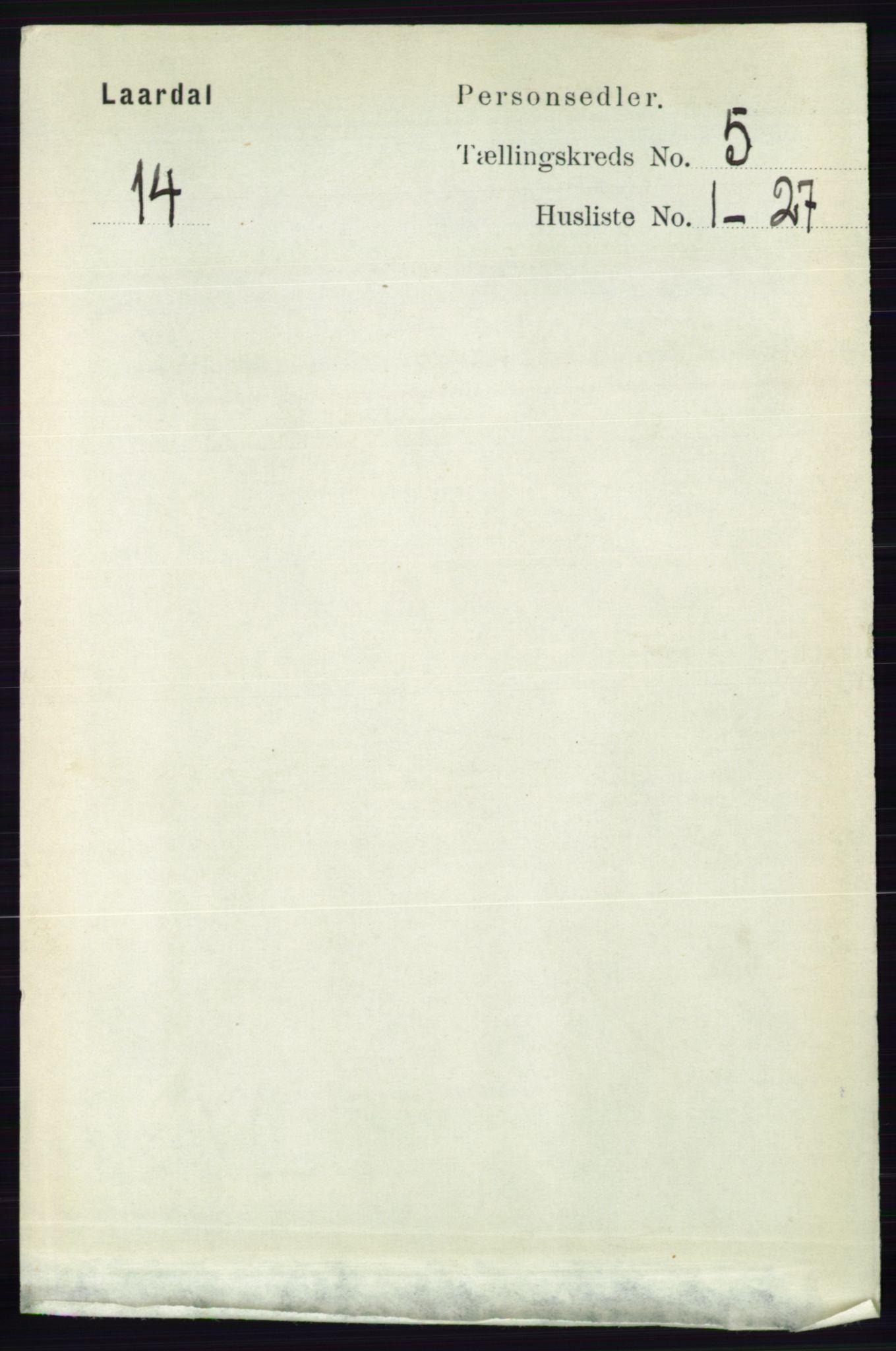 RA, Folketelling 1891 for 0833 Lårdal herred, 1891, s. 1334