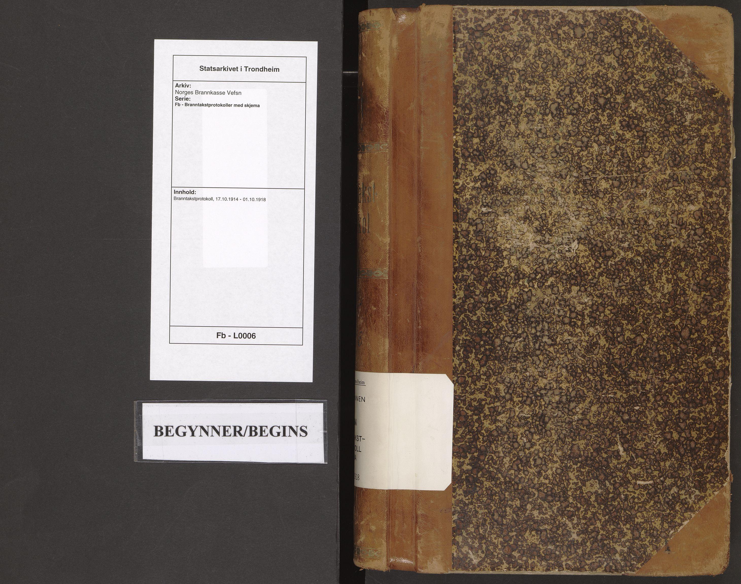 SAT, Norges Brannkasse Vefsn, Branntakstprotokoller med skjema, nr. 6: 1914-1918, 1914-1918
