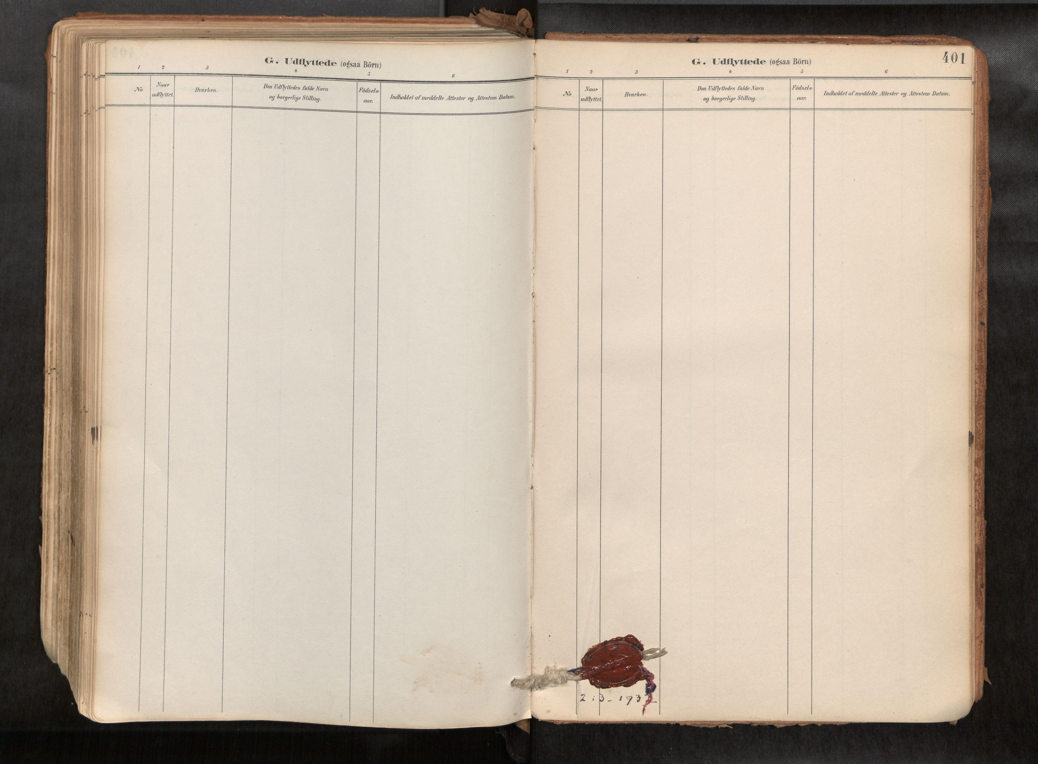 SAT, Ministerialprotokoller, klokkerbøker og fødselsregistre - Sør-Trøndelag, 692/L1105b: Ministerialbok nr. 692A06, 1891-1934, s. 401