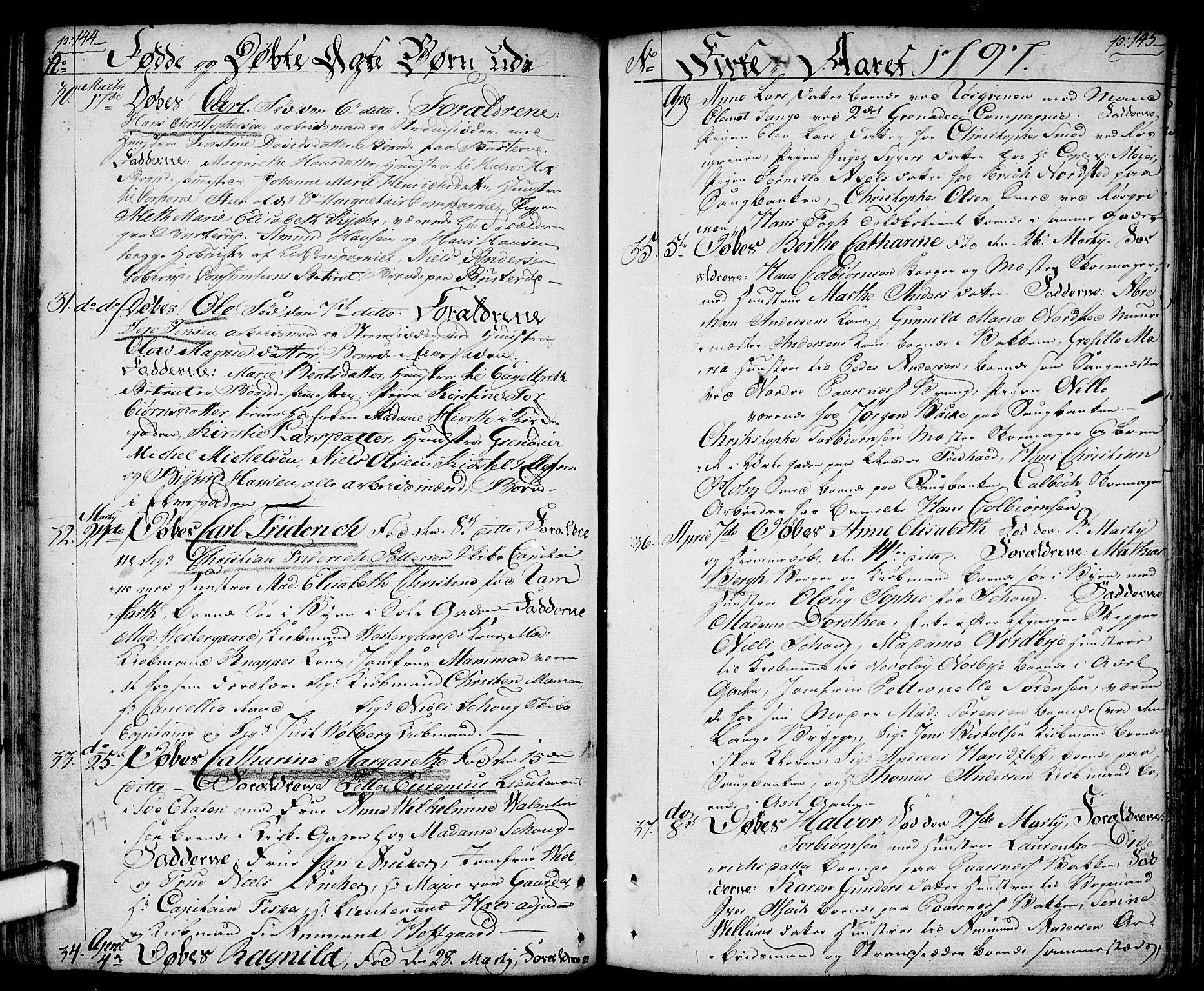 SAO, Halden prestekontor Kirkebøker, F/Fa/L0002: Ministerialbok nr. I 2, 1792-1812, s. 144-145