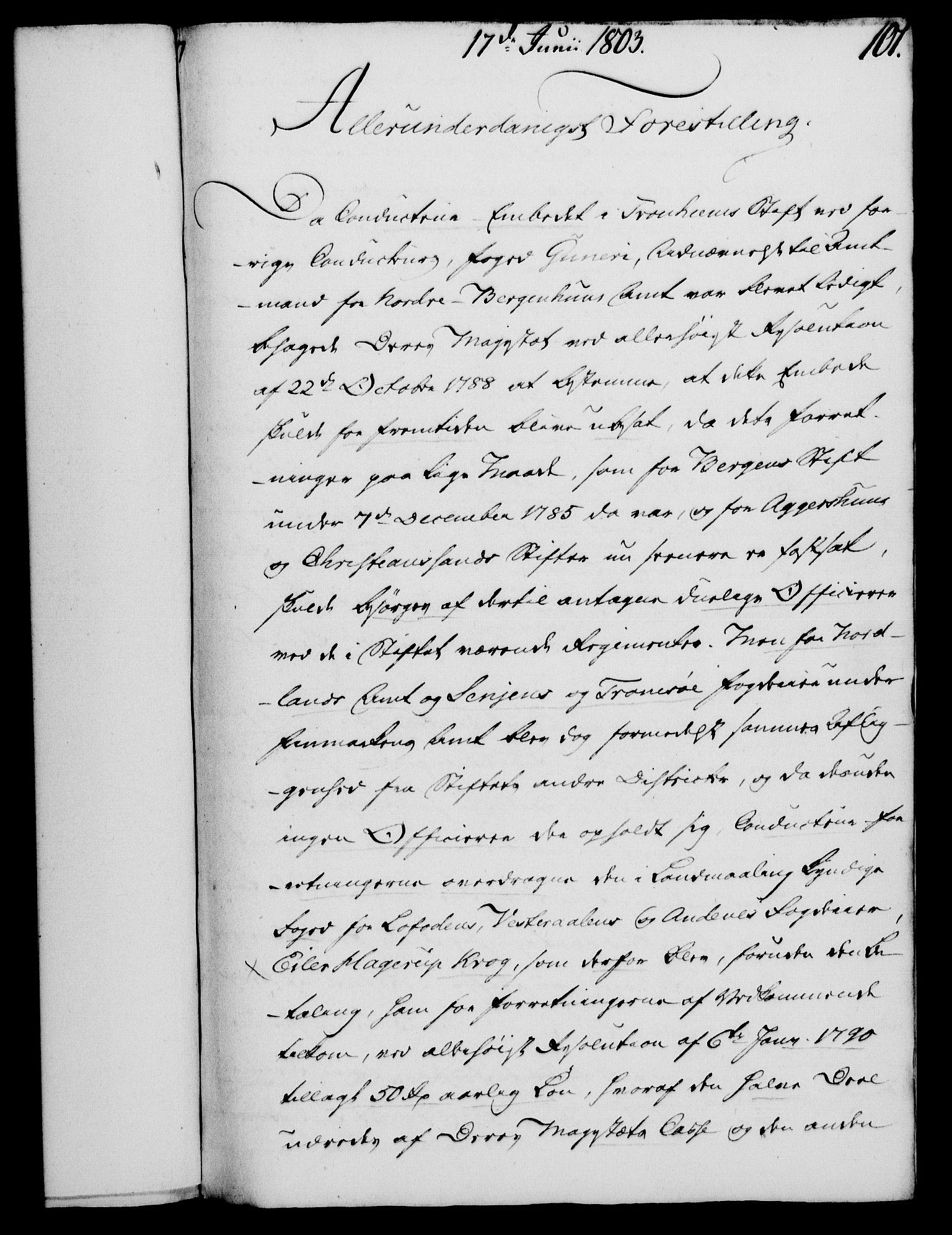 RA, Rentekammeret, Kammerkanselliet, G/Gf/Gfa/L0085: Norsk relasjons- og resolusjonsprotokoll (merket RK 52.85), 1803, s. 582