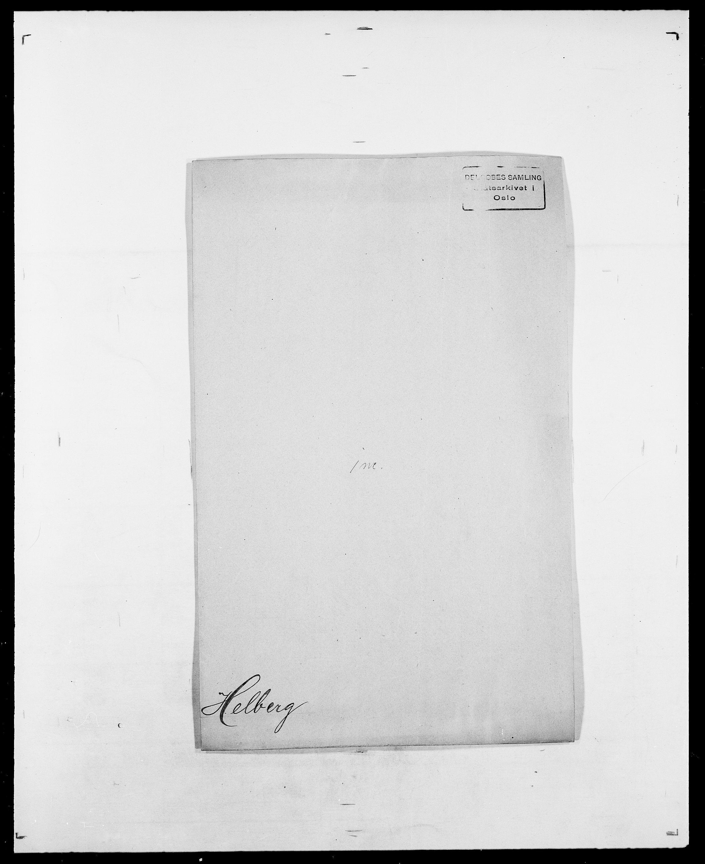 SAO, Delgobe, Charles Antoine - samling, D/Da/L0017: Helander - Hjørne, s. 3