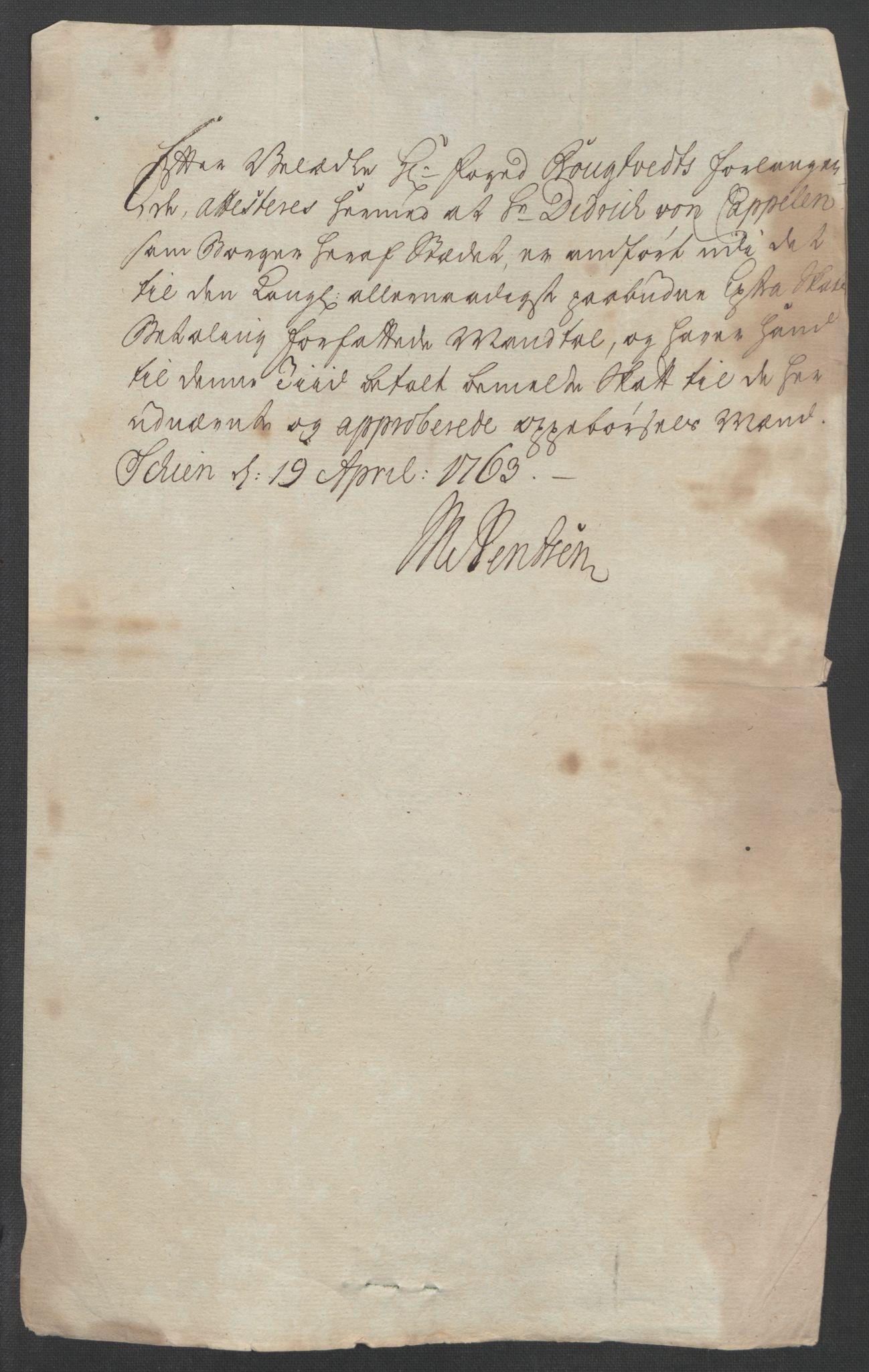 RA, Rentekammeret inntil 1814, Reviderte regnskaper, Fogderegnskap, R37/L2239: Ekstraskatten Nedre Telemark og Bamble, 1762-1763, s. 339