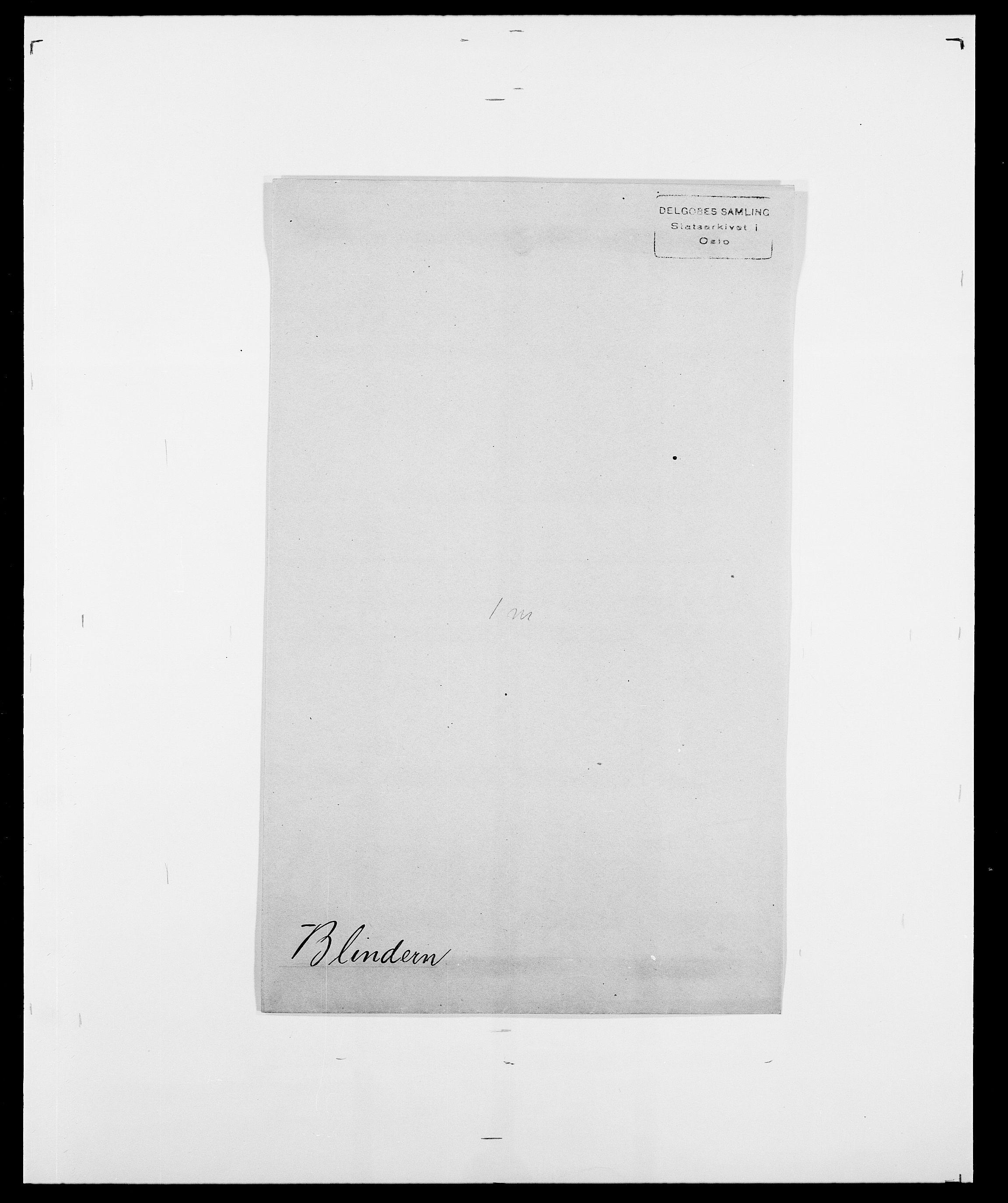 SAO, Delgobe, Charles Antoine - samling, D/Da/L0004: Bergendahl - Blære, s. 611