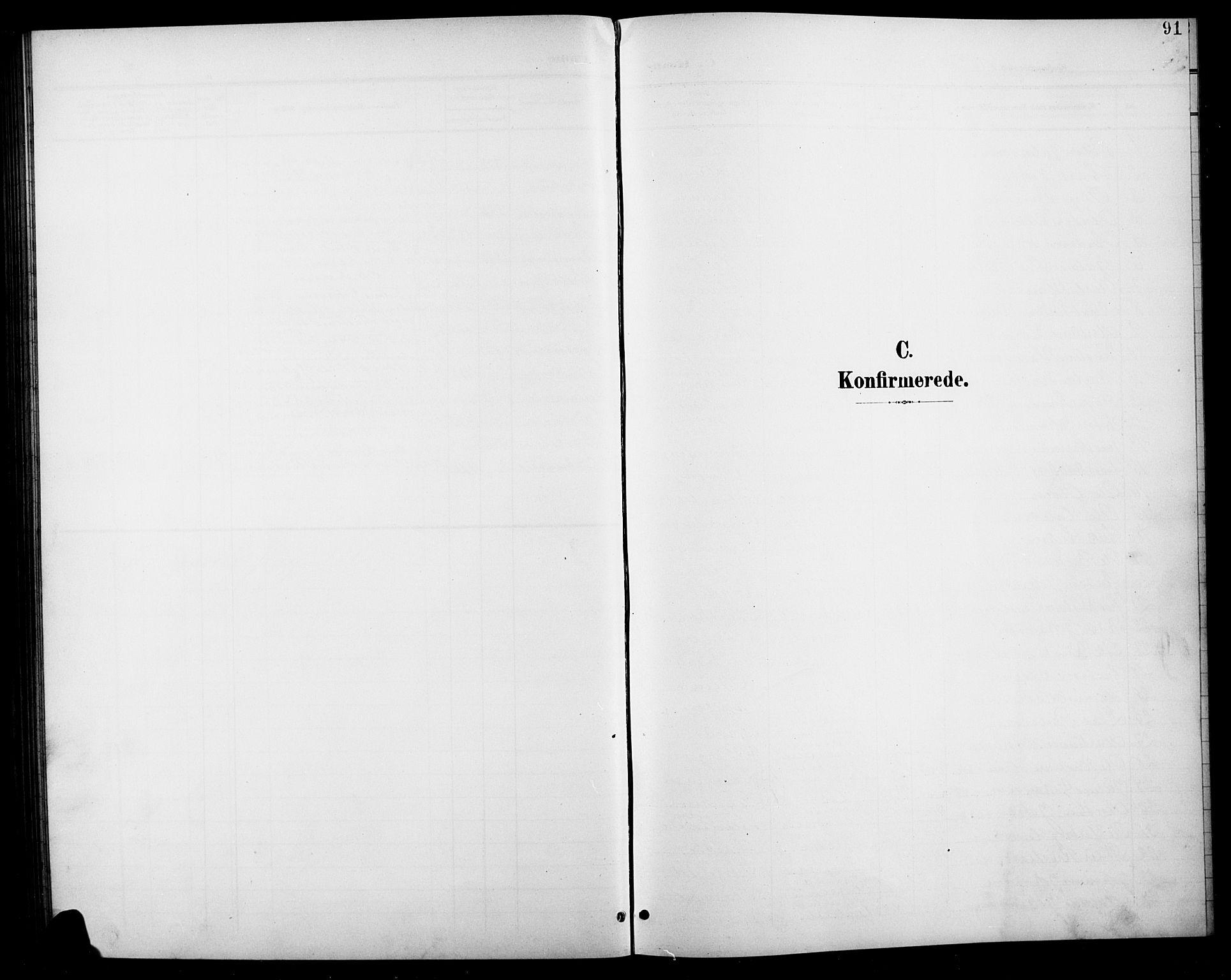 SAH, Søndre Land prestekontor, L/L0004: Klokkerbok nr. 4, 1901-1915, s. 91