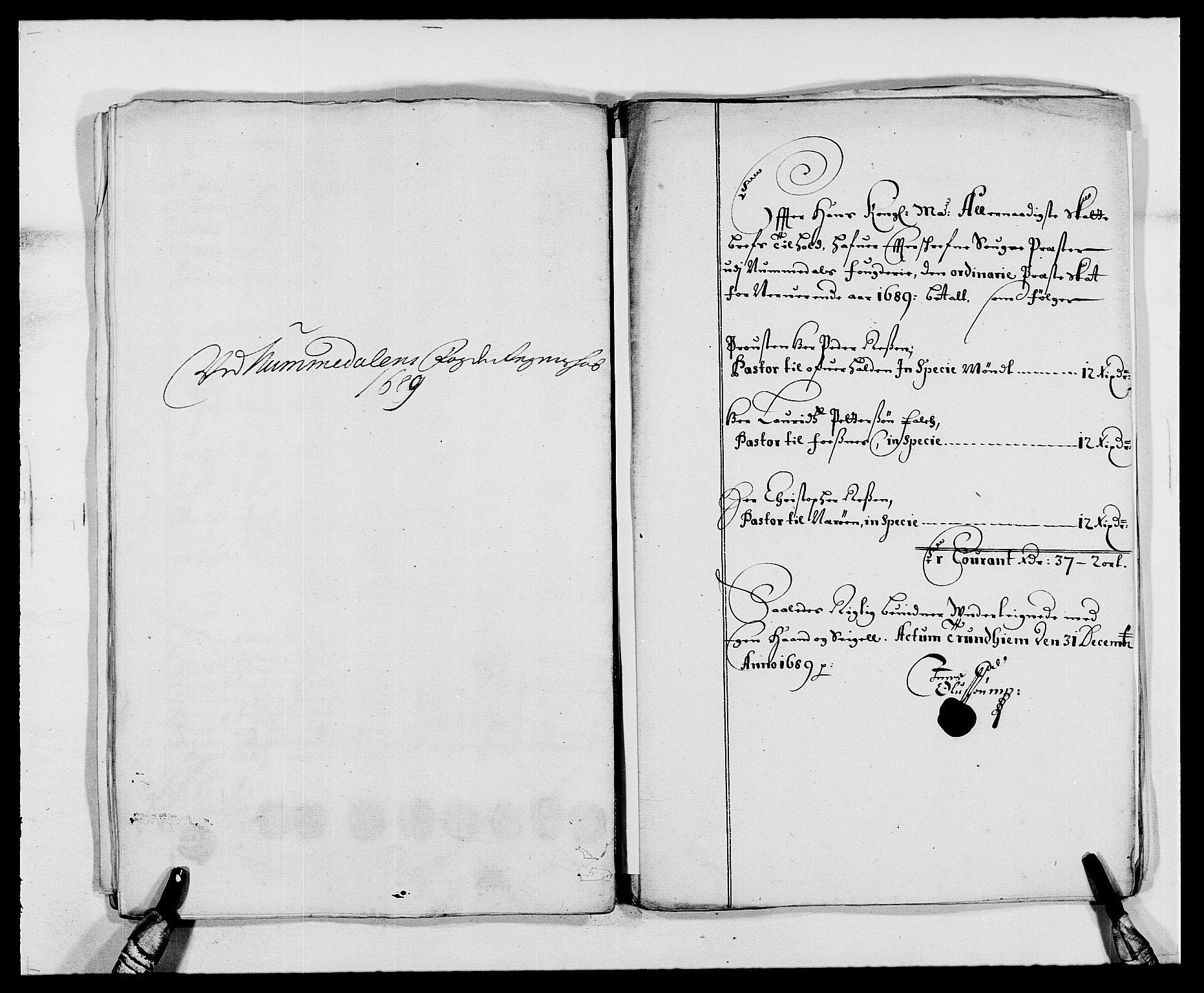 RA, Rentekammeret inntil 1814, Reviderte regnskaper, Fogderegnskap, R64/L4422: Fogderegnskap Namdal, 1687-1689, s. 279