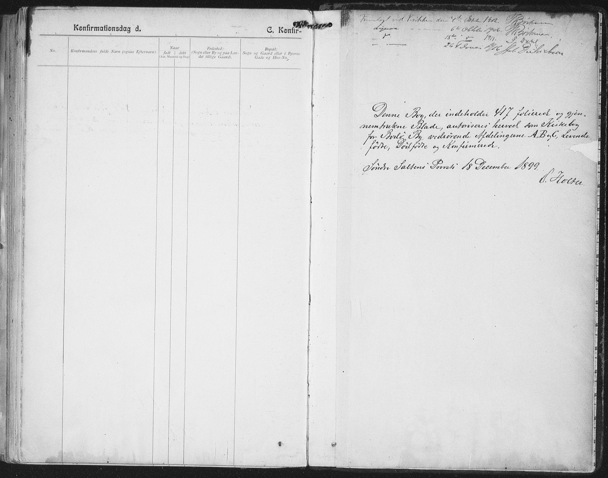 SAT, Ministerialprotokoller, klokkerbøker og fødselsregistre - Nordland, 801/L0011: Ministerialbok nr. 801A11, 1900-1916