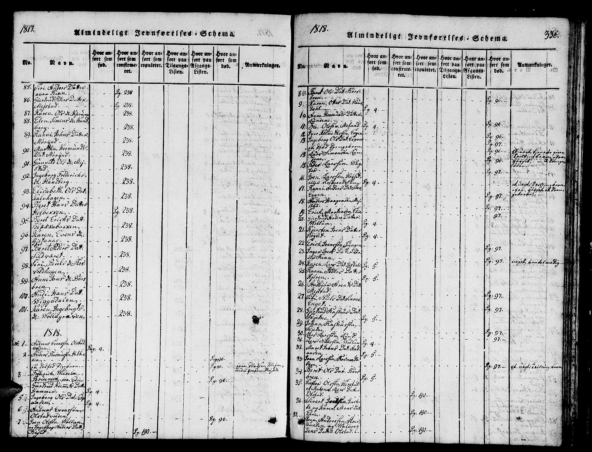 SAT, Ministerialprotokoller, klokkerbøker og fødselsregistre - Sør-Trøndelag, 665/L0776: Klokkerbok nr. 665C01, 1817-1837, s. 336