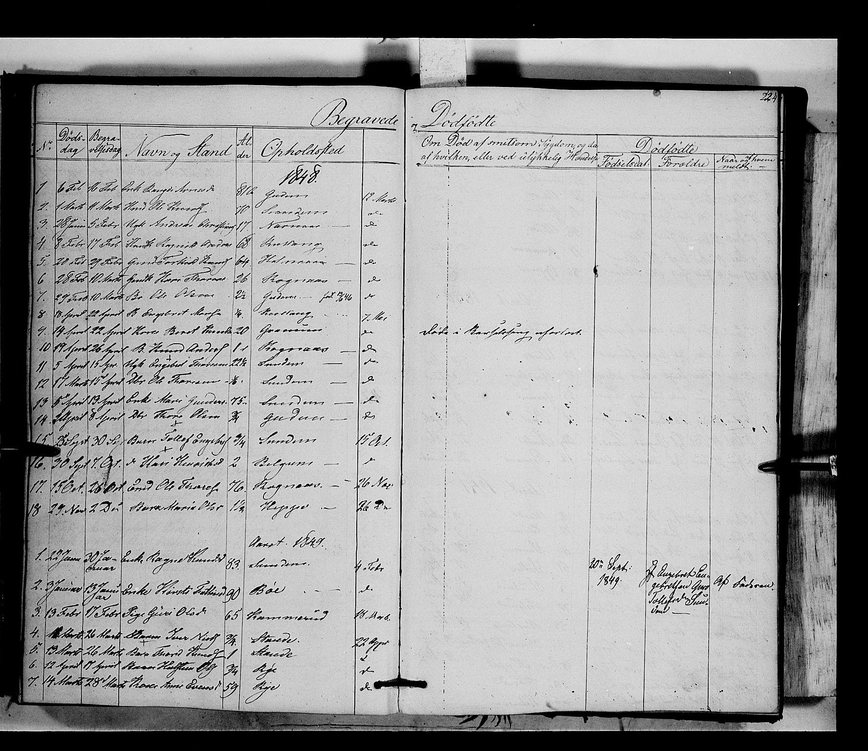 SAH, Nord-Aurdal prestekontor, Ministerialbok nr. 6, 1842-1863, s. 224