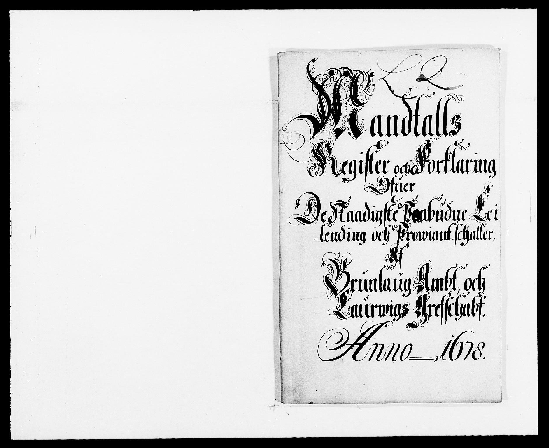 RA, Rentekammeret inntil 1814, Reviderte regnskaper, Fogderegnskap, R33/L1968: Fogderegnskap Larvik grevskap, 1675-1687, s. 123