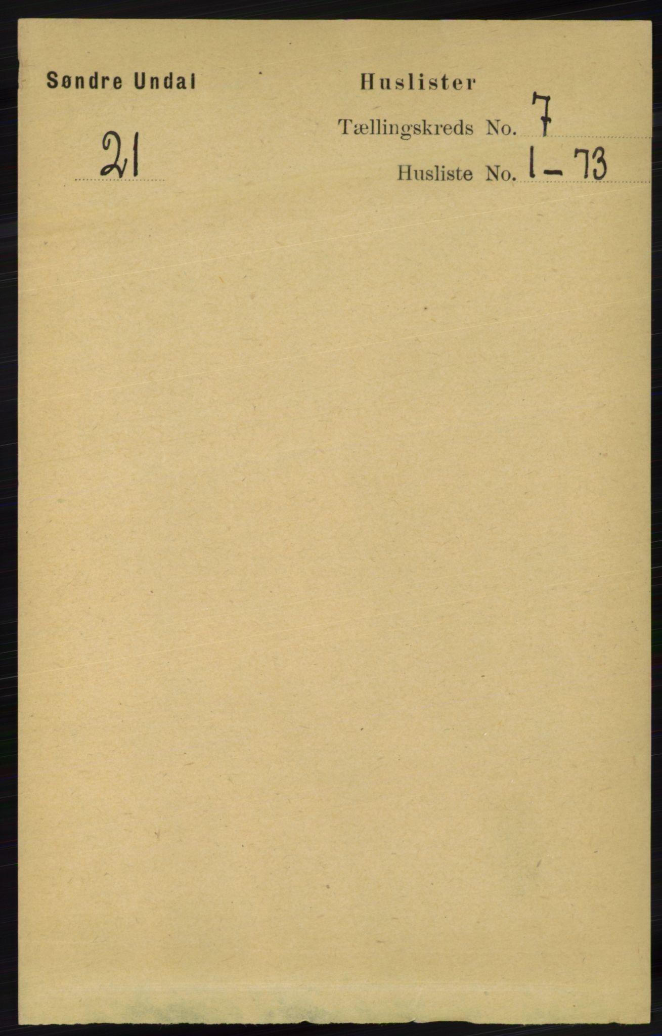 RA, Folketelling 1891 for 1029 Sør-Audnedal herred, 1891, s. 2541