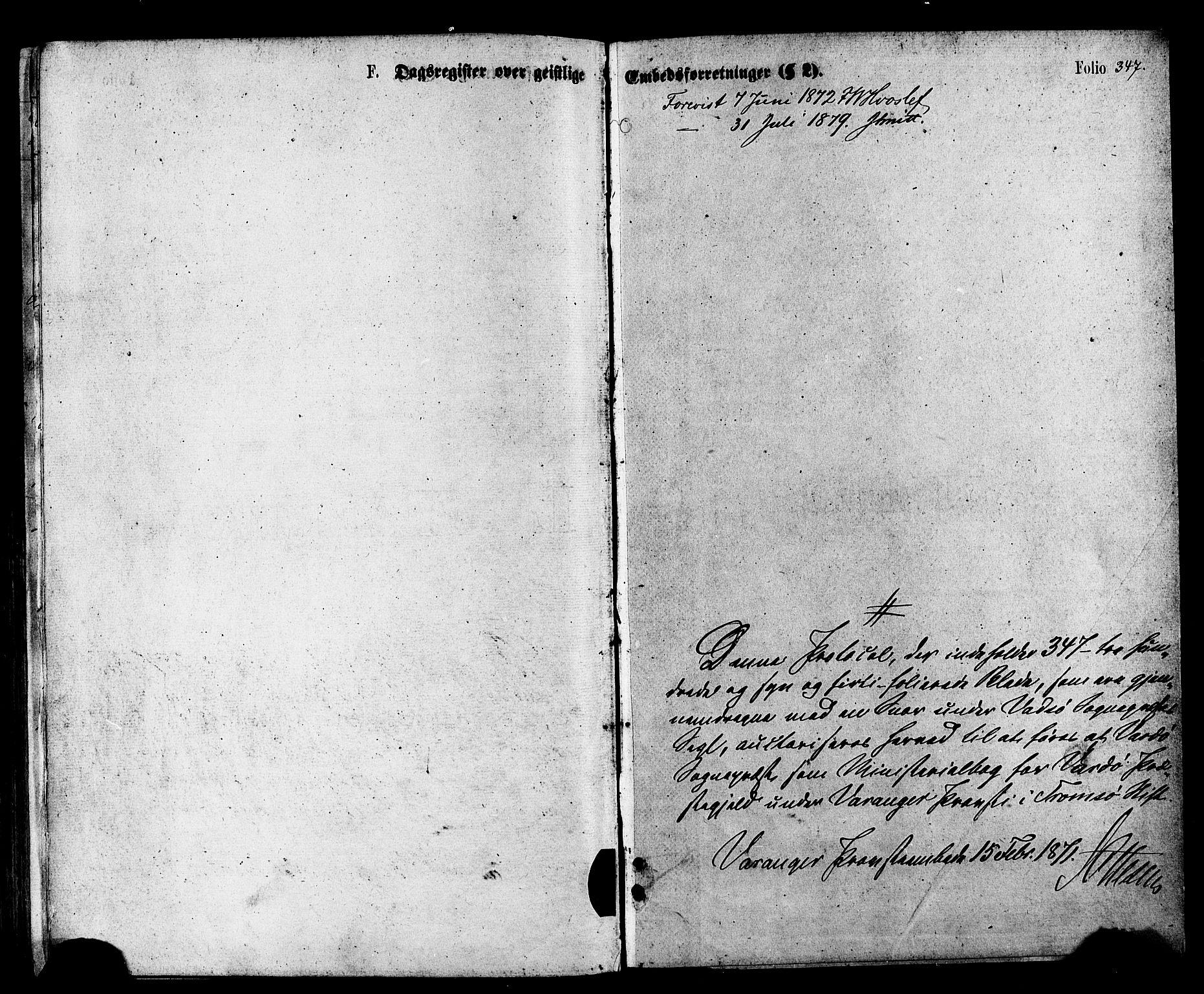 SATØ, Vardø sokneprestkontor, H/Ha/L0005kirke: Ministerialbok nr. 5, 1872-1878, s. 347