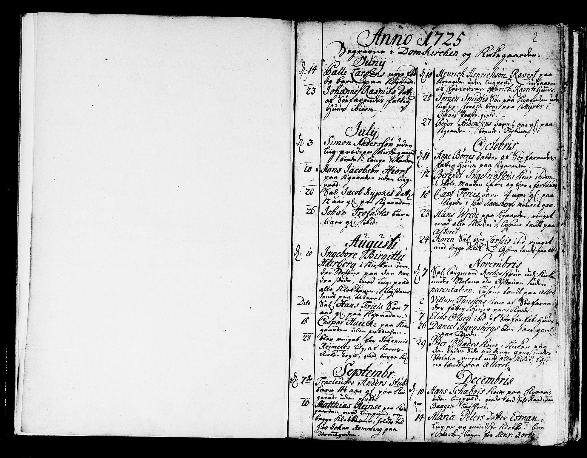 SAB, Domkirken Sokneprestembete, H/Haa/L0008: Ministerialbok nr. A 8, 1725-1775, s. 2