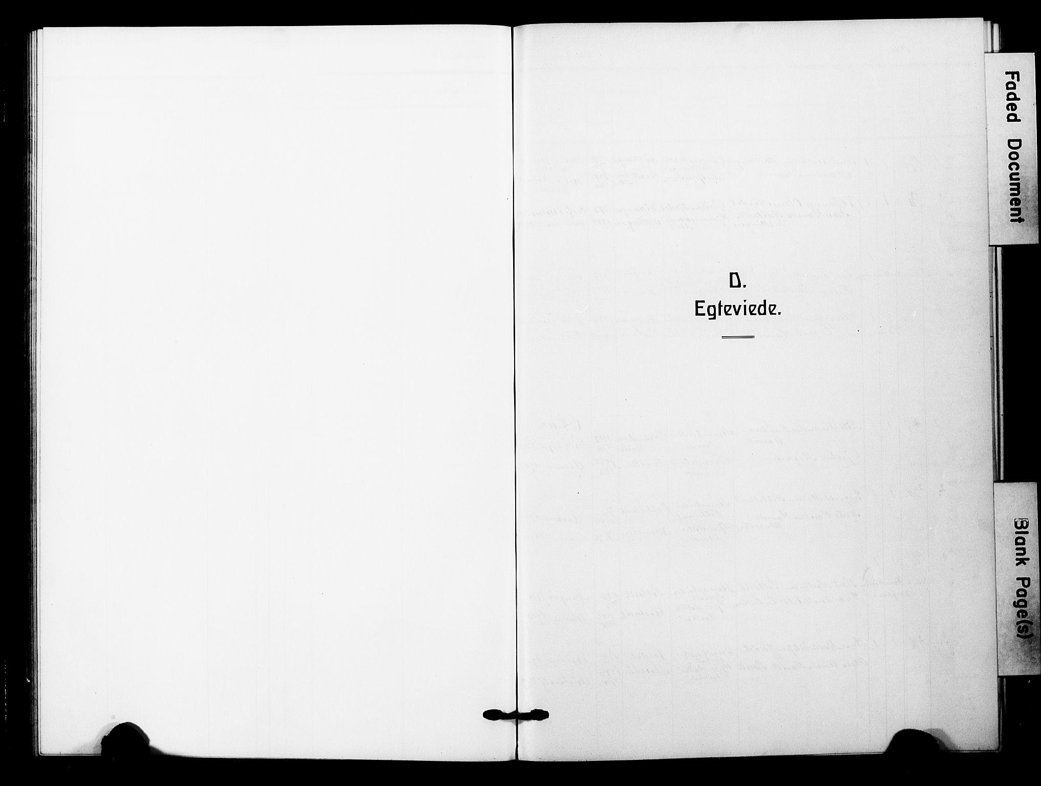 SAB, Åsane Sokneprestembete, H/Hab: Klokkerbok nr. A 4, 1915-1927