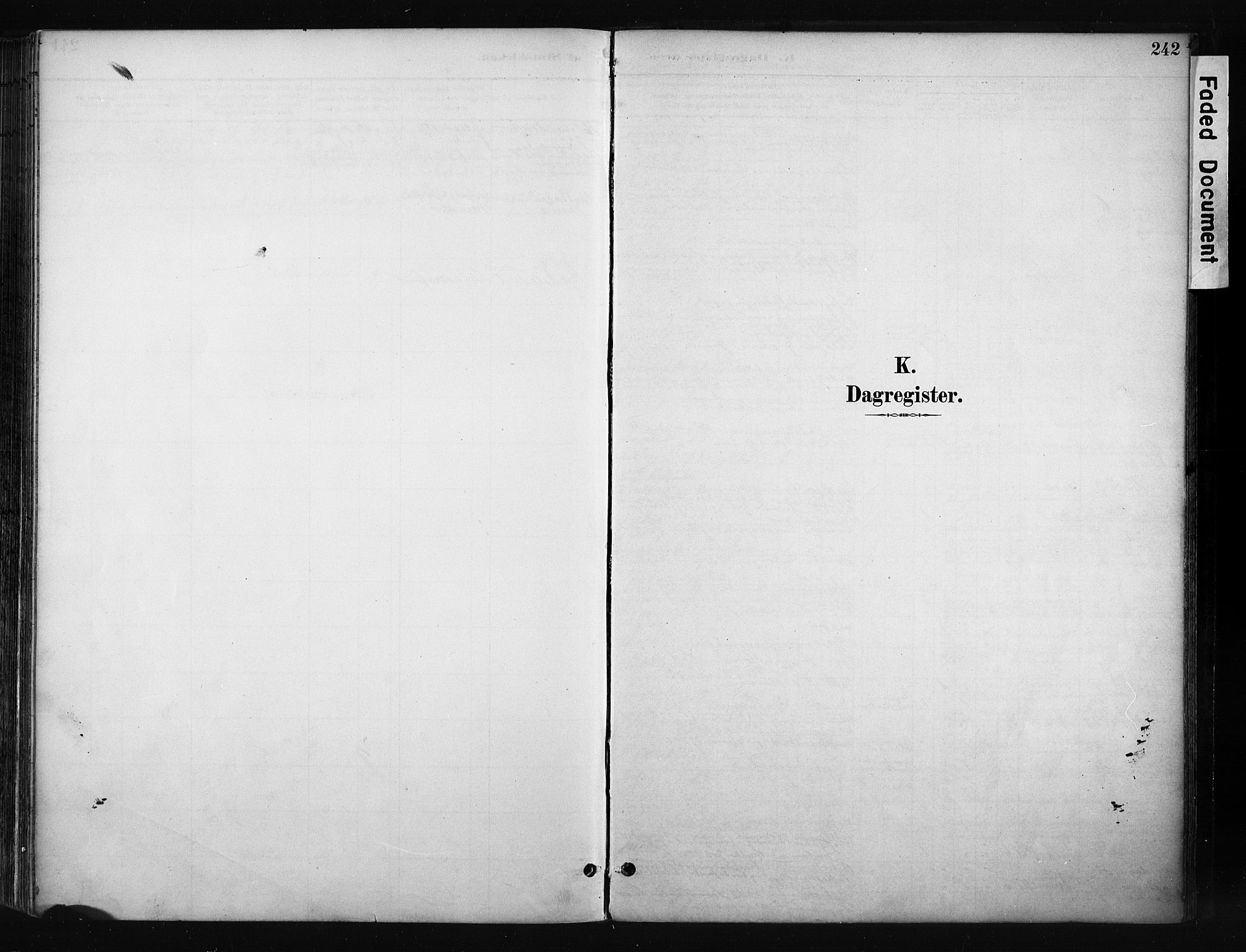 SAH, Gran prestekontor, Ministerialbok nr. 17, 1889-1897, s. 242