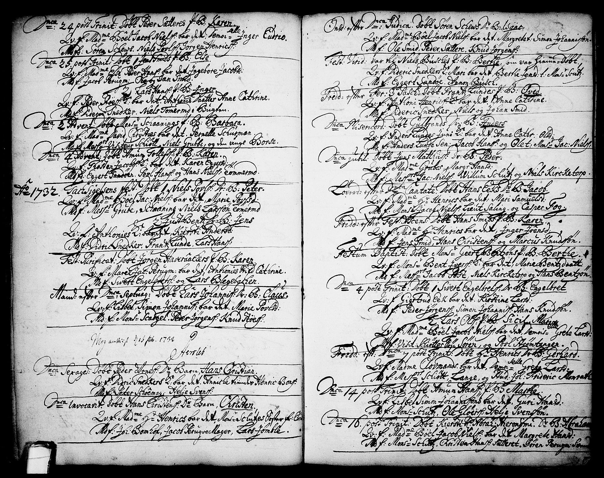 SAKO, Brevik kirkebøker, F/Fa/L0002: Ministerialbok nr. 2, 1720-1764, s. 34c