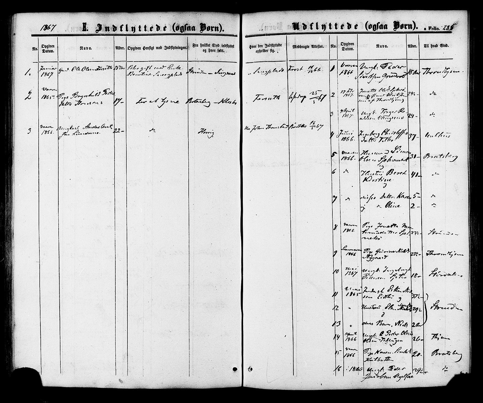 SAT, Ministerialprotokoller, klokkerbøker og fødselsregistre - Sør-Trøndelag, 618/L0442: Ministerialbok nr. 618A06 /1, 1863-1879, s. 286