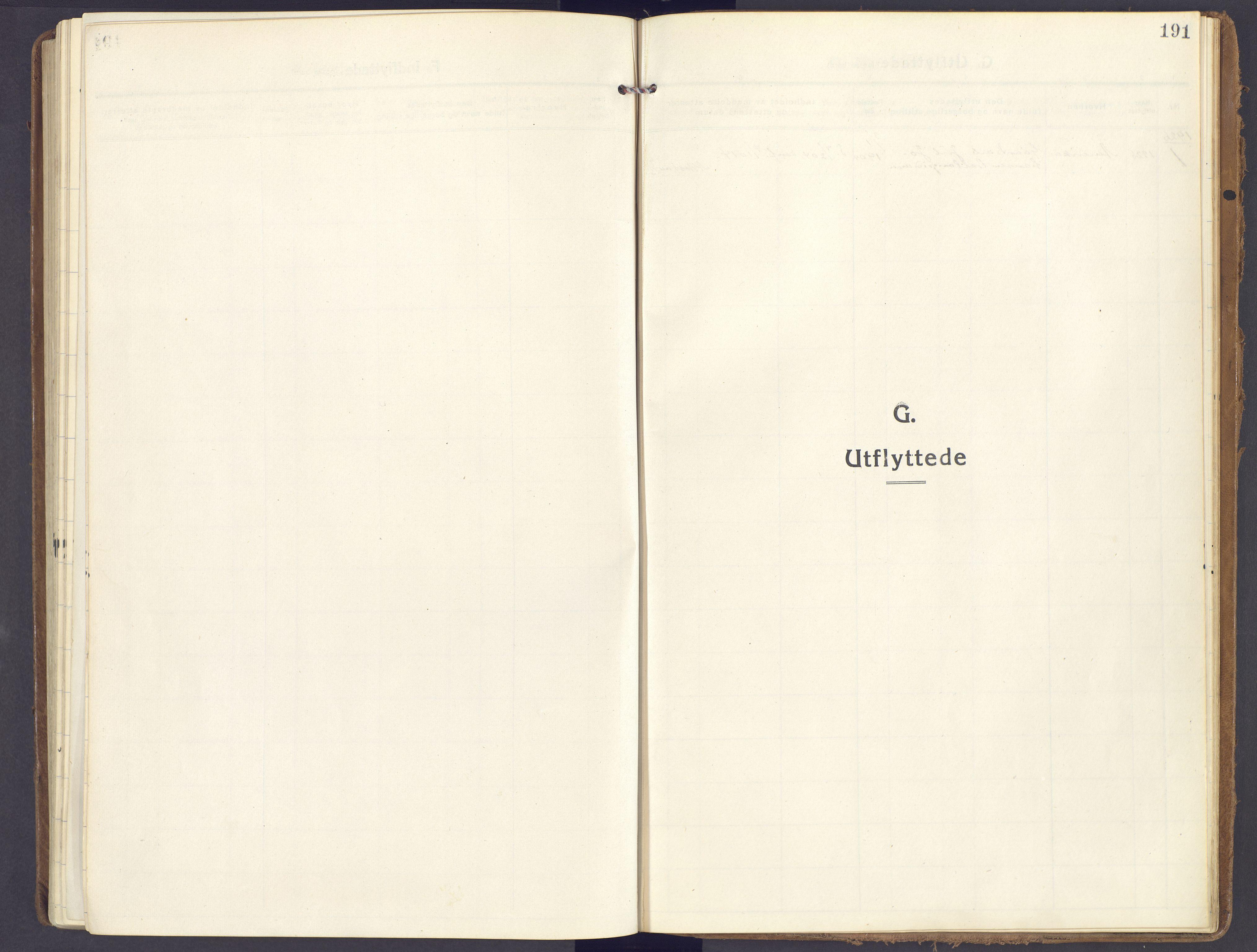 SAH, Lunner prestekontor, H/Ha/Haa/L0002: Ministerialbok nr. 2, 1922-1931, s. 191