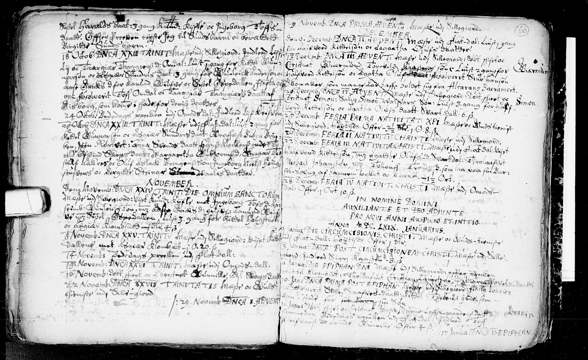 SAKO, Seljord kirkebøker, F/Fa/L0001: Ministerialbok nr. I 1, 1654-1686, s. 60