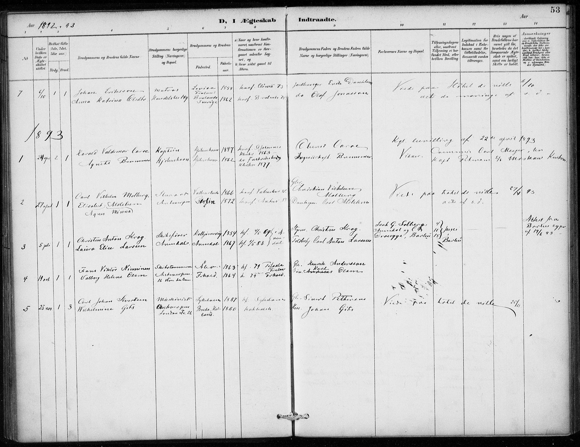SAB, Den Norske Sjømannsmisjon i utlandet*, Ministerialbok nr. A 2, 1887-1913, s. 53