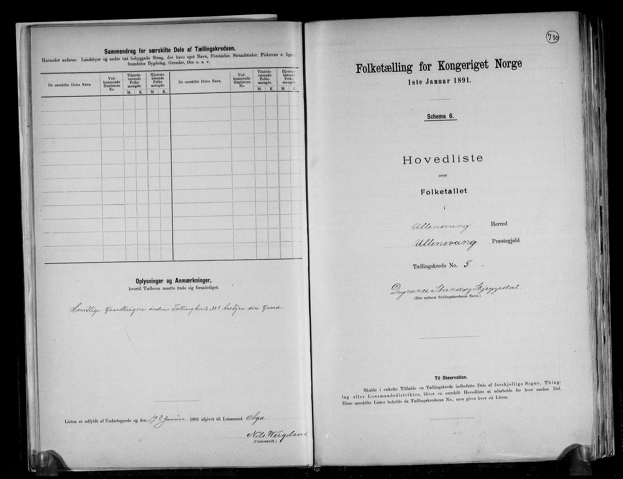 RA, Folketelling 1891 for 1230 Ullensvang herred, 1891, s. 16
