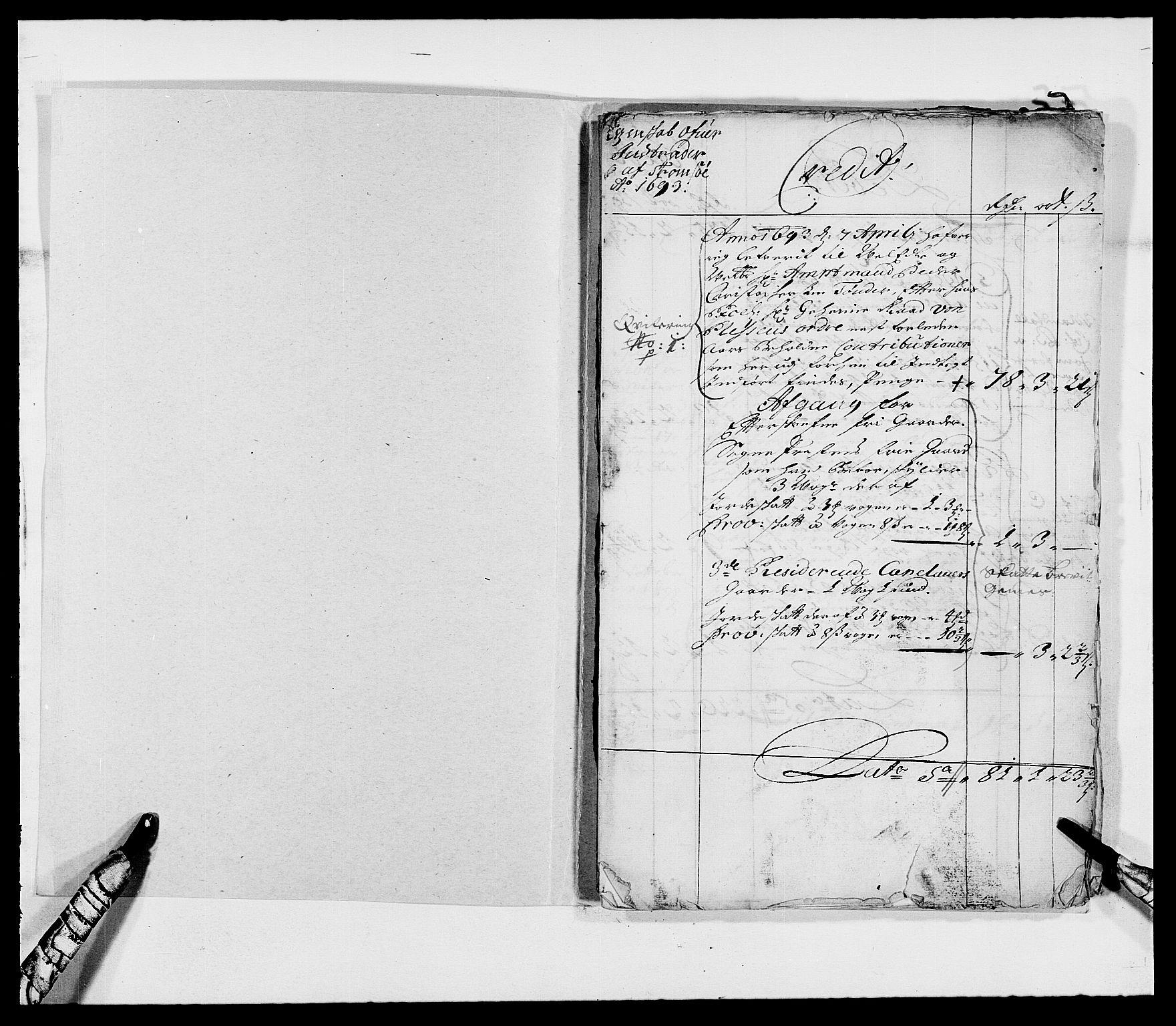 RA, Rentekammeret inntil 1814, Reviderte regnskaper, Fogderegnskap, R68/L4751: Fogderegnskap Senja og Troms, 1690-1693, s. 282