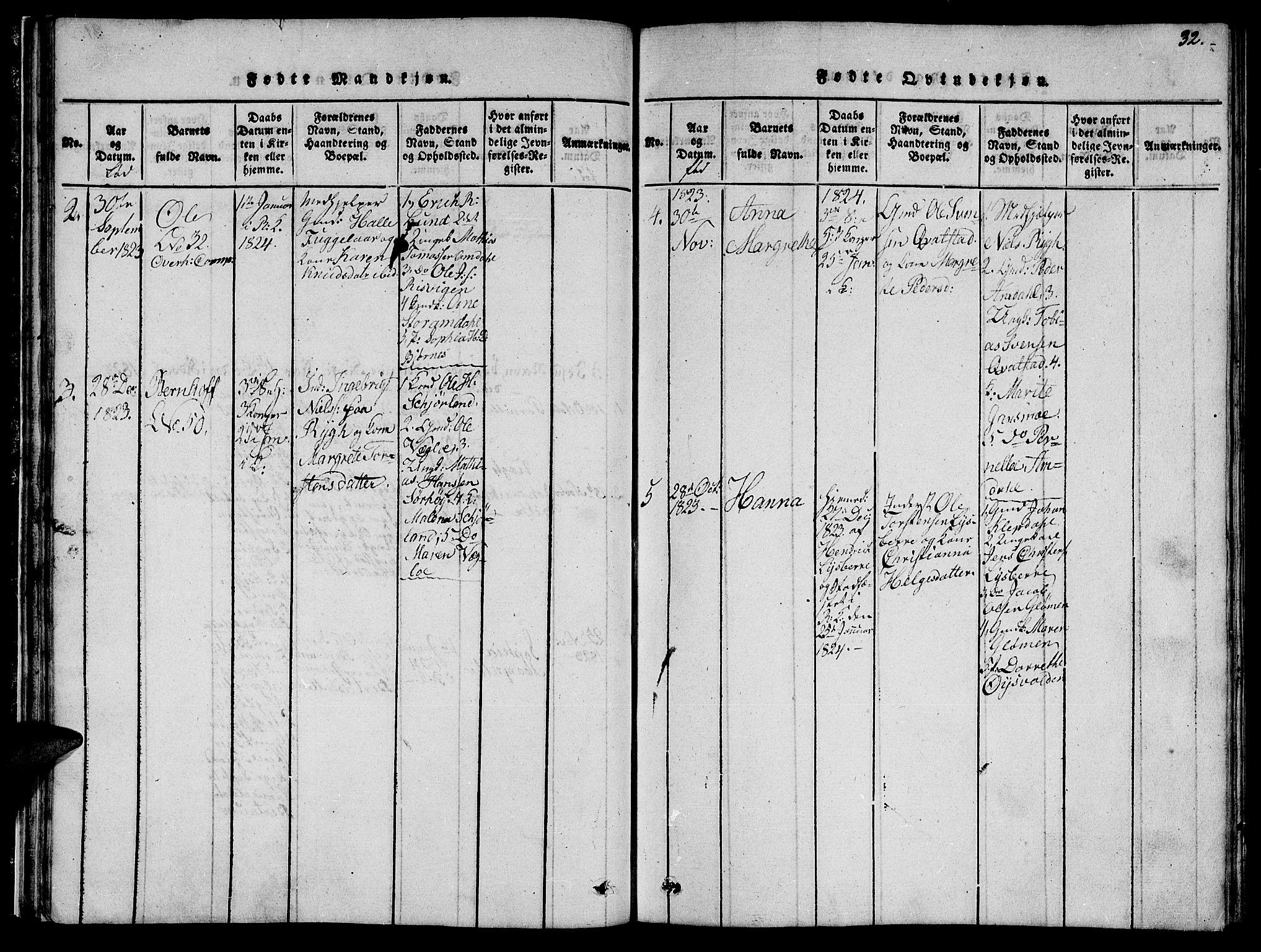 SAT, Ministerialprotokoller, klokkerbøker og fødselsregistre - Nord-Trøndelag, 764/L0559: Klokkerbok nr. 764C01, 1816-1824, s. 32