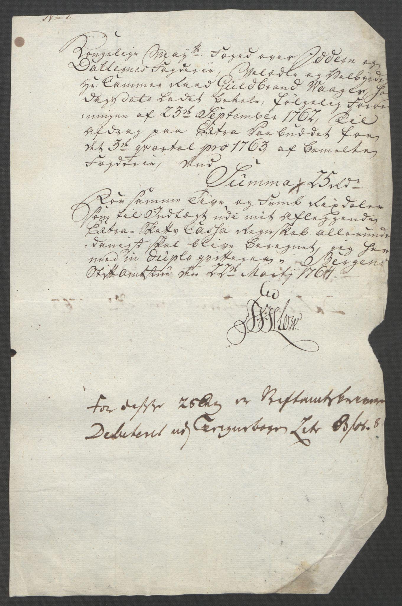 RA, Rentekammeret inntil 1814, Reviderte regnskaper, Fogderegnskap, R46/L2835: Ekstraskatten Jæren og Dalane, 1762-1764, s. 135
