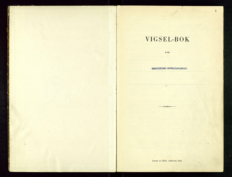 SAST, Haugesund tingrett, III/IIID/L0005: Vigselbok, 1944-1948, s. 1