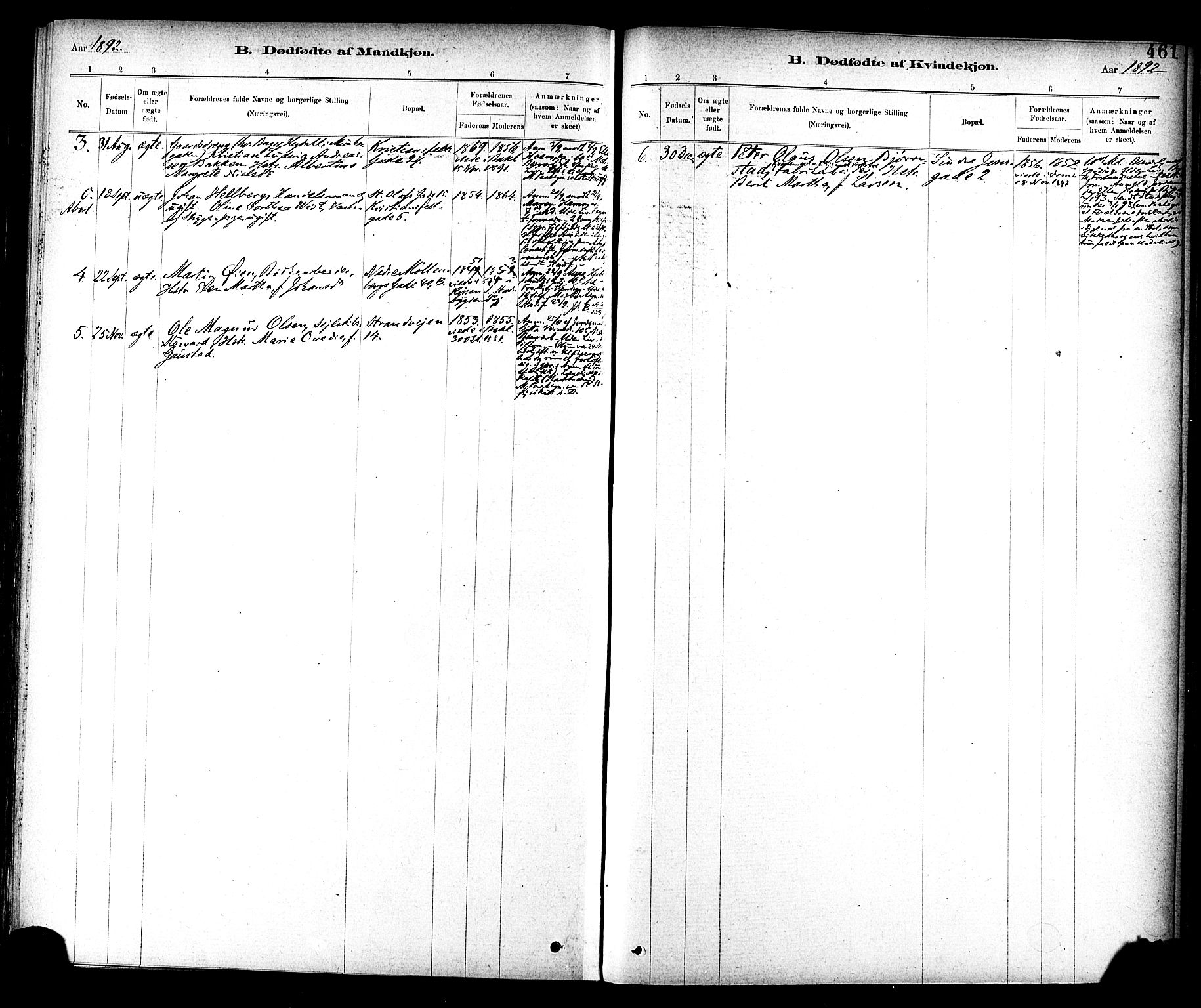 SAT, Ministerialprotokoller, klokkerbøker og fødselsregistre - Sør-Trøndelag, 604/L0188: Ministerialbok nr. 604A09, 1878-1892, s. 461