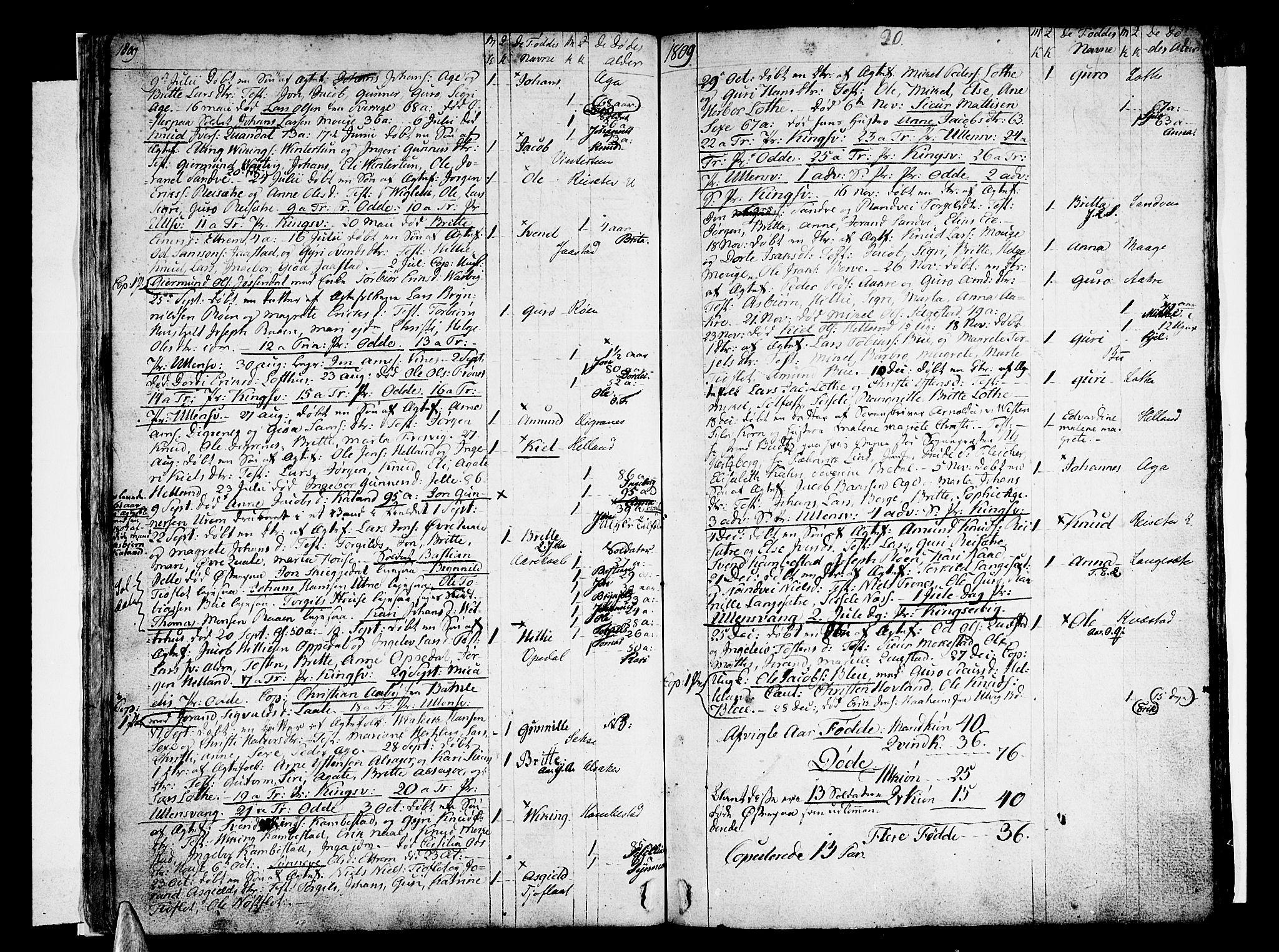 SAB, Ullensvang Sokneprestembete, H/Haa: Ministerialbok nr. A 8, 1804-1835, s. 20