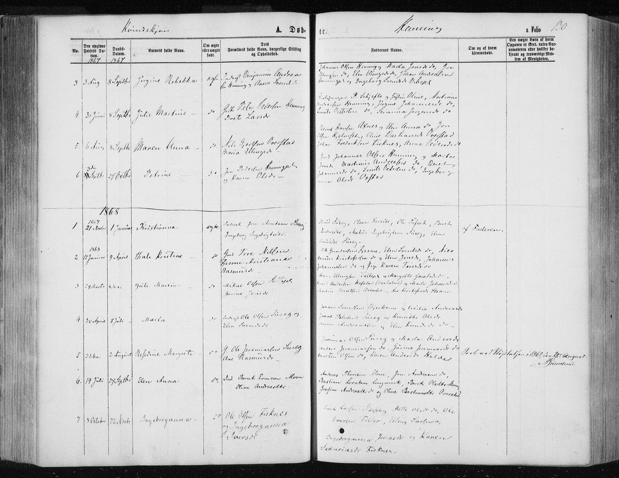 SAT, Ministerialprotokoller, klokkerbøker og fødselsregistre - Nord-Trøndelag, 735/L0345: Ministerialbok nr. 735A08 /3, 1863-1872, s. 130