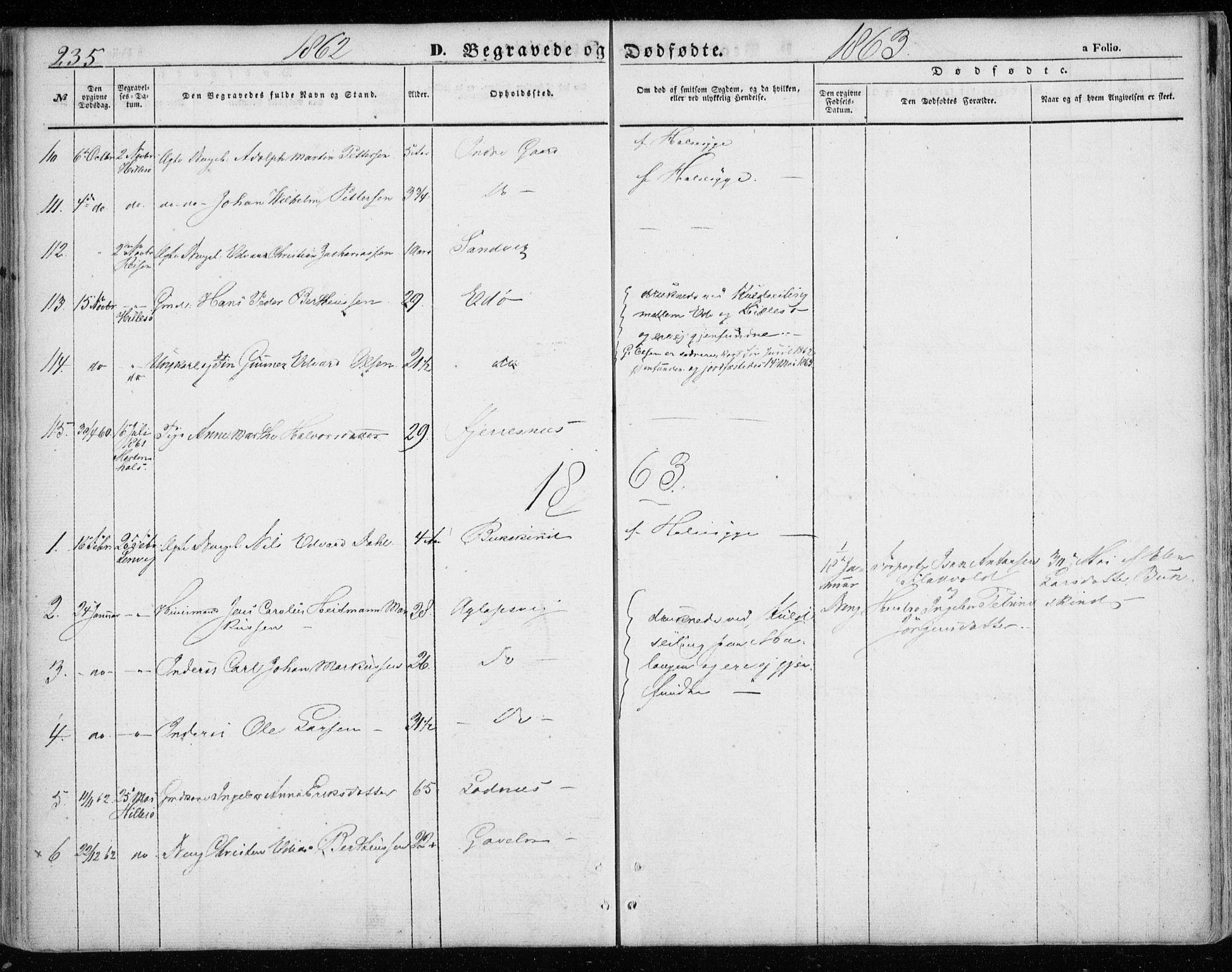 SATØ, Lenvik sokneprestembete, H/Ha: Ministerialbok nr. 7, 1855-1865, s. 235