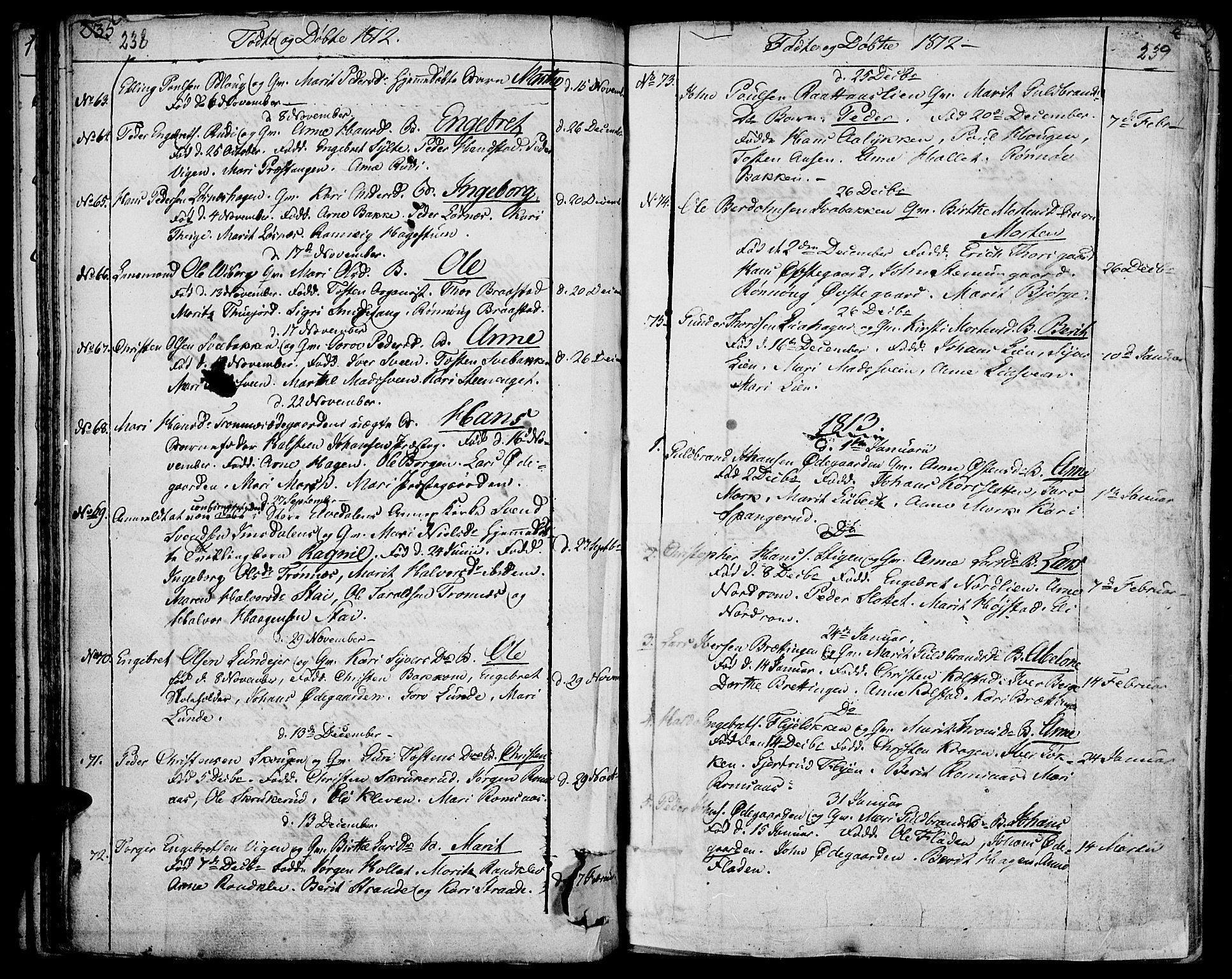 SAH, Ringebu prestekontor, Ministerialbok nr. 3, 1781-1820, s. 238-239