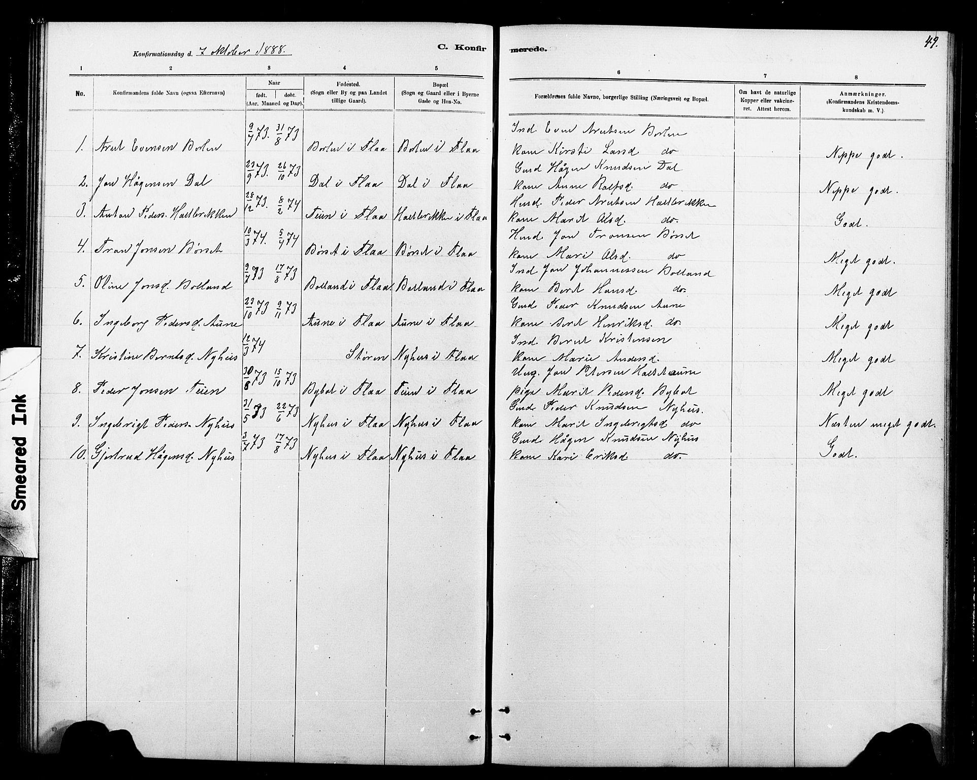 SAT, Ministerialprotokoller, klokkerbøker og fødselsregistre - Sør-Trøndelag, 693/L1123: Klokkerbok nr. 693C04, 1887-1910, s. 49