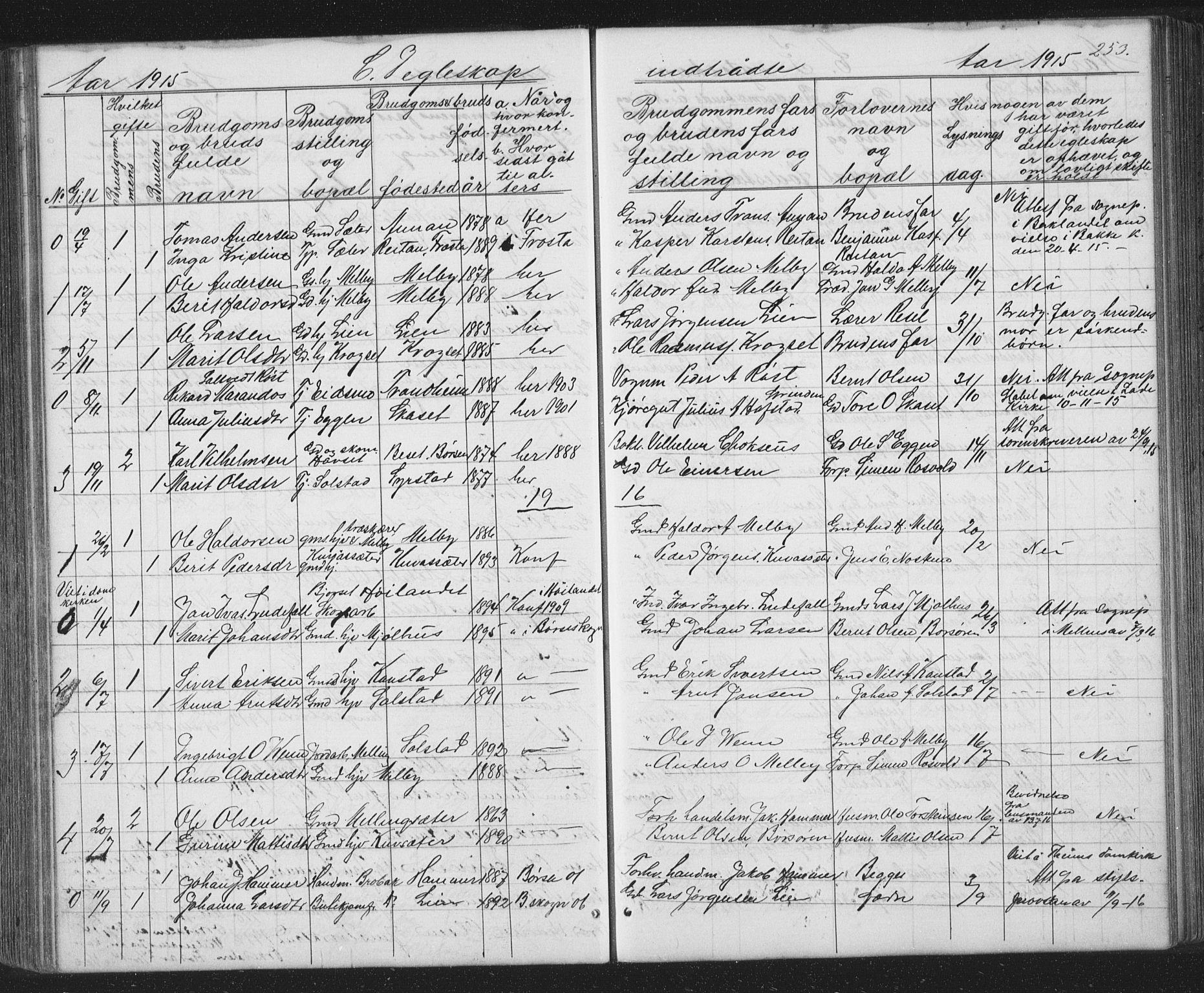 SAT, Ministerialprotokoller, klokkerbøker og fødselsregistre - Sør-Trøndelag, 667/L0798: Klokkerbok nr. 667C03, 1867-1929, s. 253