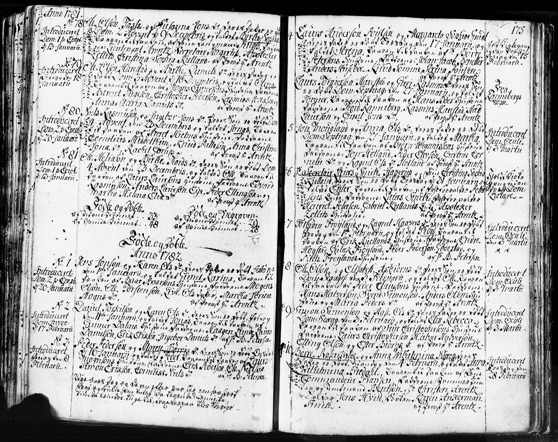 SAST, Domkirken sokneprestkontor, 30/30BB/L0004: Klokkerbok nr. B 4, 1752-1790, s. 175