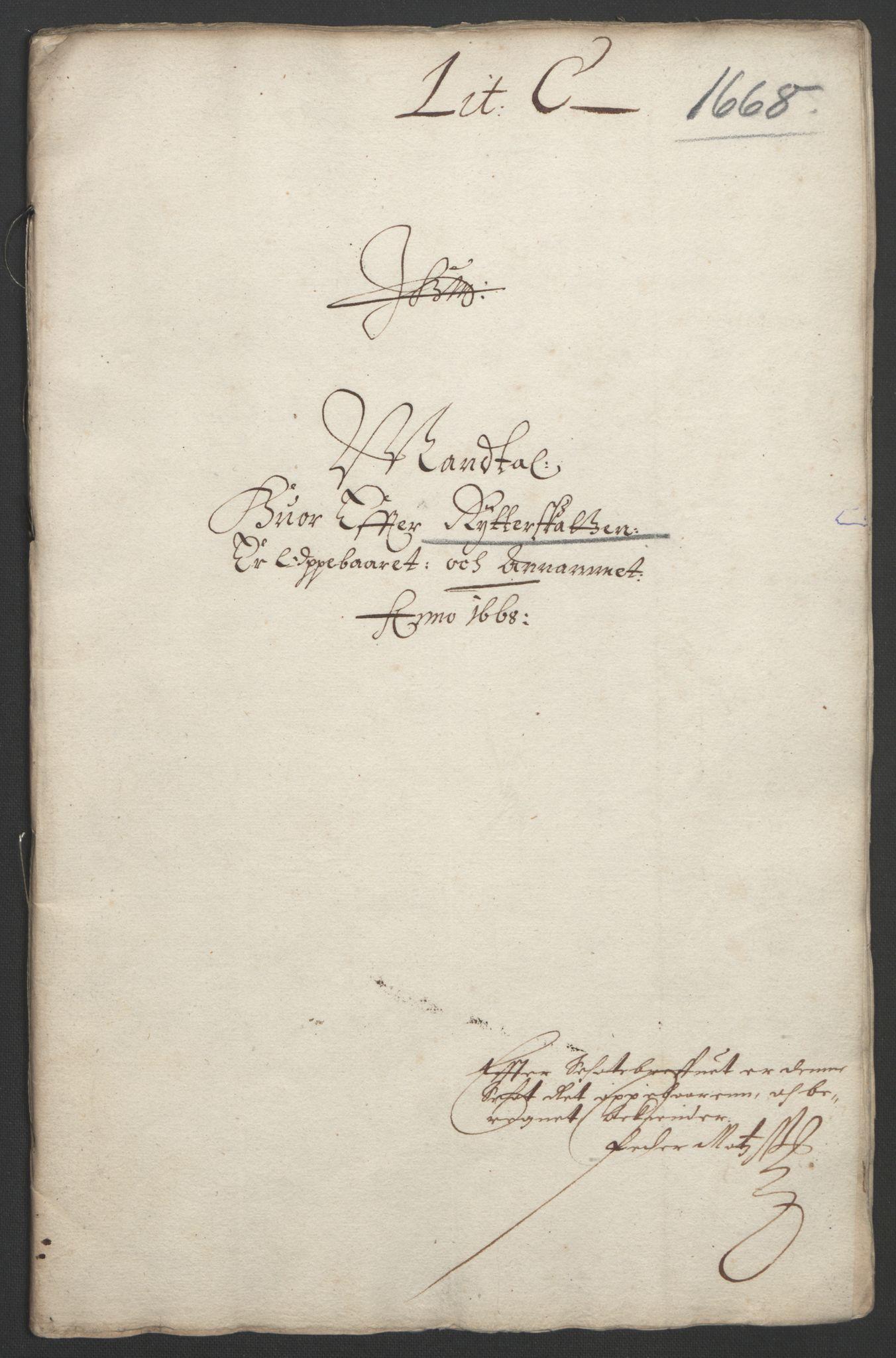 RA, Rentekammeret inntil 1814, Reviderte regnskaper, Fogderegnskap, R33/L1964: Fogderegnskap Larvik grevskap, 1665-1668, s. 163