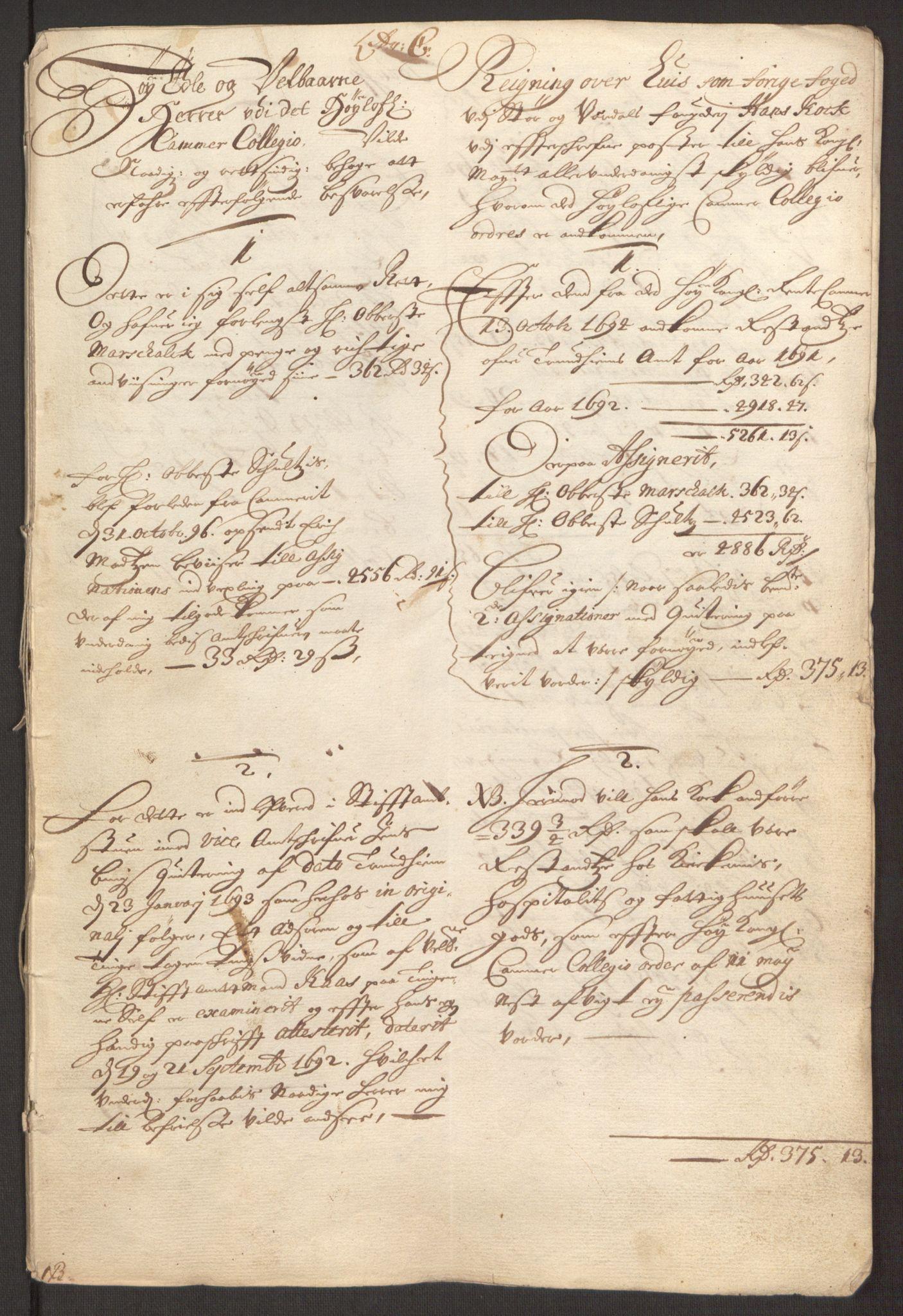 RA, Rentekammeret inntil 1814, Reviderte regnskaper, Fogderegnskap, R62/L4185: Fogderegnskap Stjørdal og Verdal, 1692, s. 428
