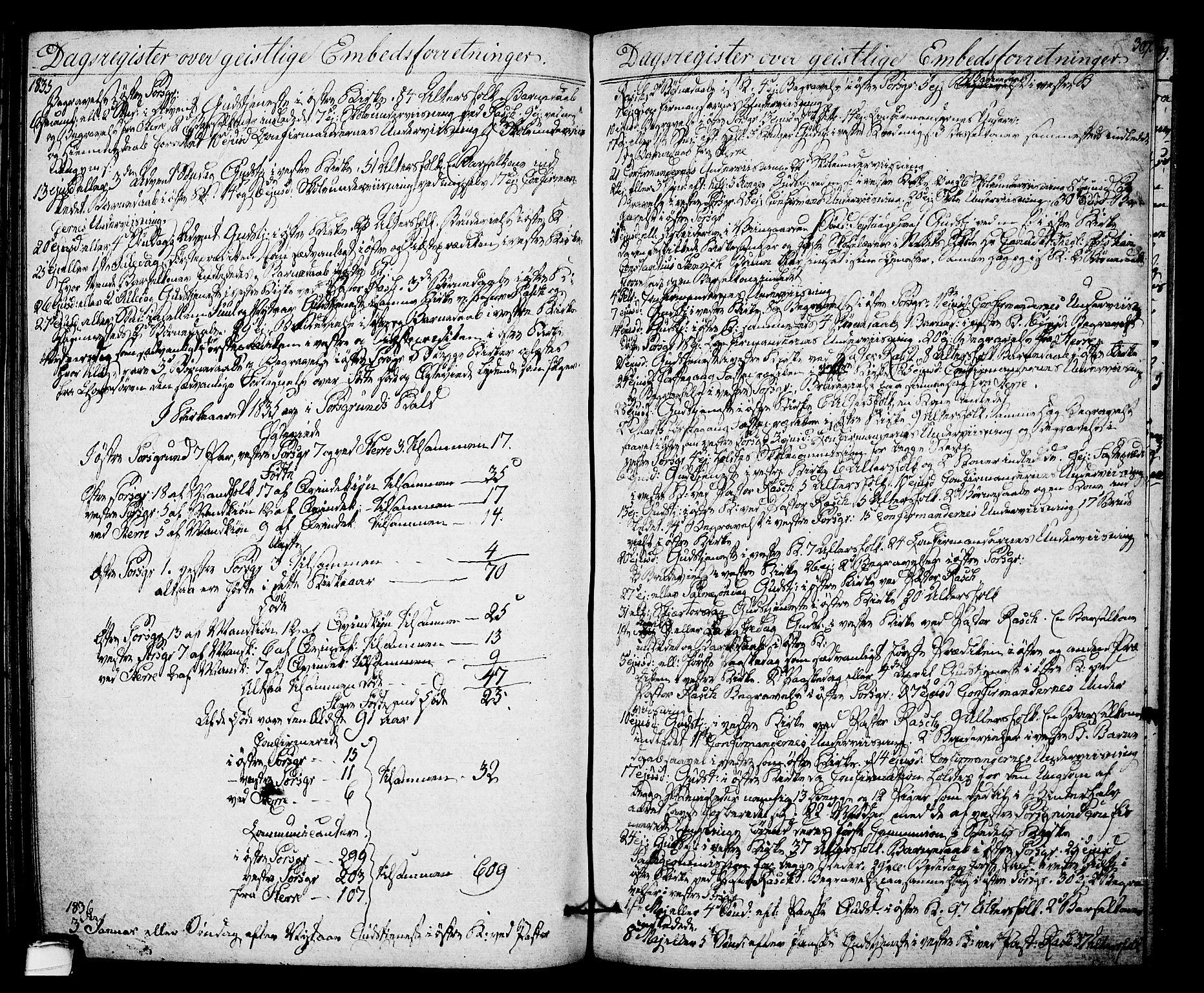 SAKO, Porsgrunn kirkebøker , F/Fa/L0005: Ministerialbok nr. 5, 1828-1840, s. 307