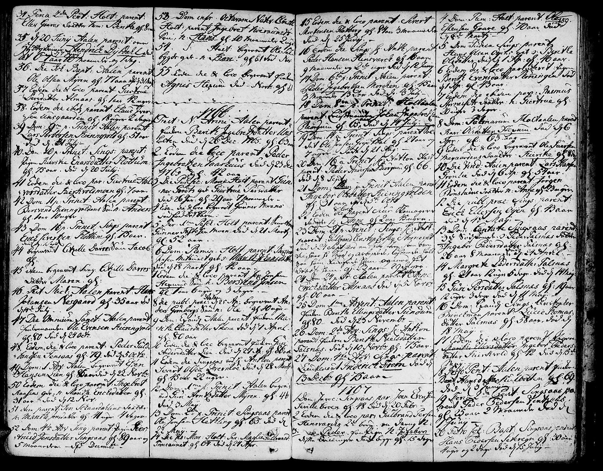 SAT, Ministerialprotokoller, klokkerbøker og fødselsregistre - Sør-Trøndelag, 685/L0952: Ministerialbok nr. 685A01, 1745-1804, s. 159