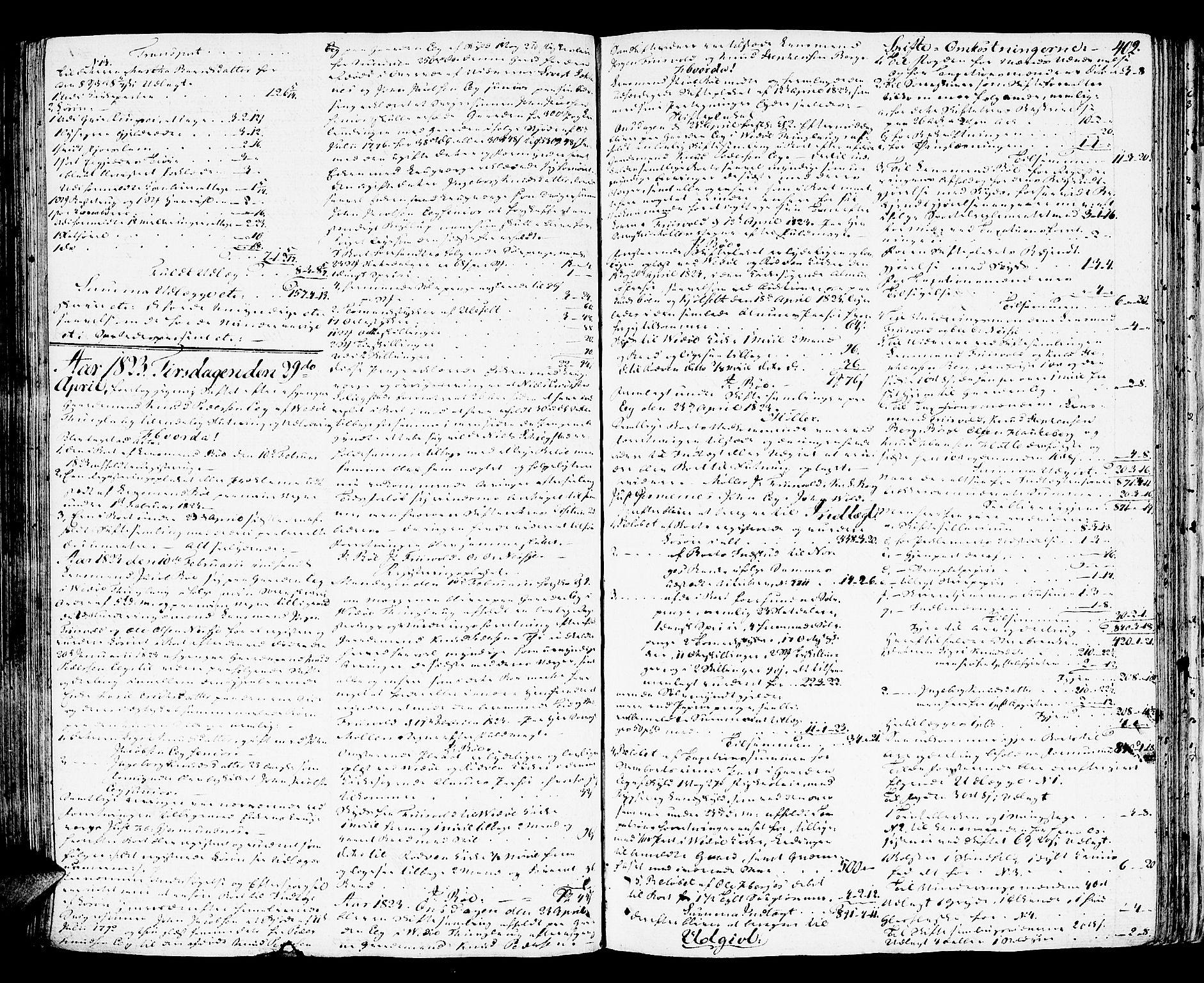 SAT, Romsdal sorenskriveri, 3/3A/L0015: Skifteutlodnings Protokoll 1, 1821-1823, s. 402