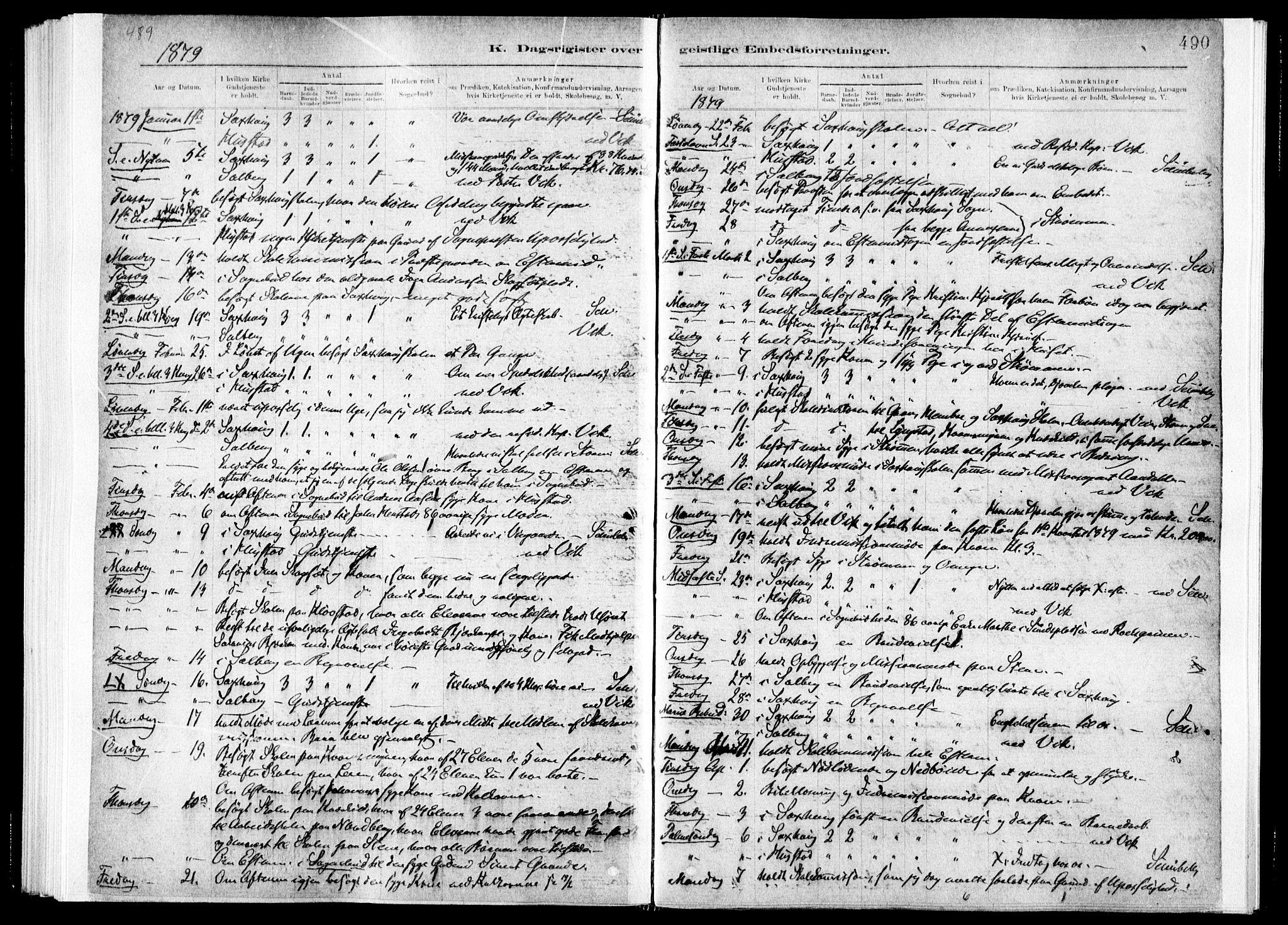 SAT, Ministerialprotokoller, klokkerbøker og fødselsregistre - Nord-Trøndelag, 730/L0285: Ministerialbok nr. 730A10, 1879-1914, s. 490